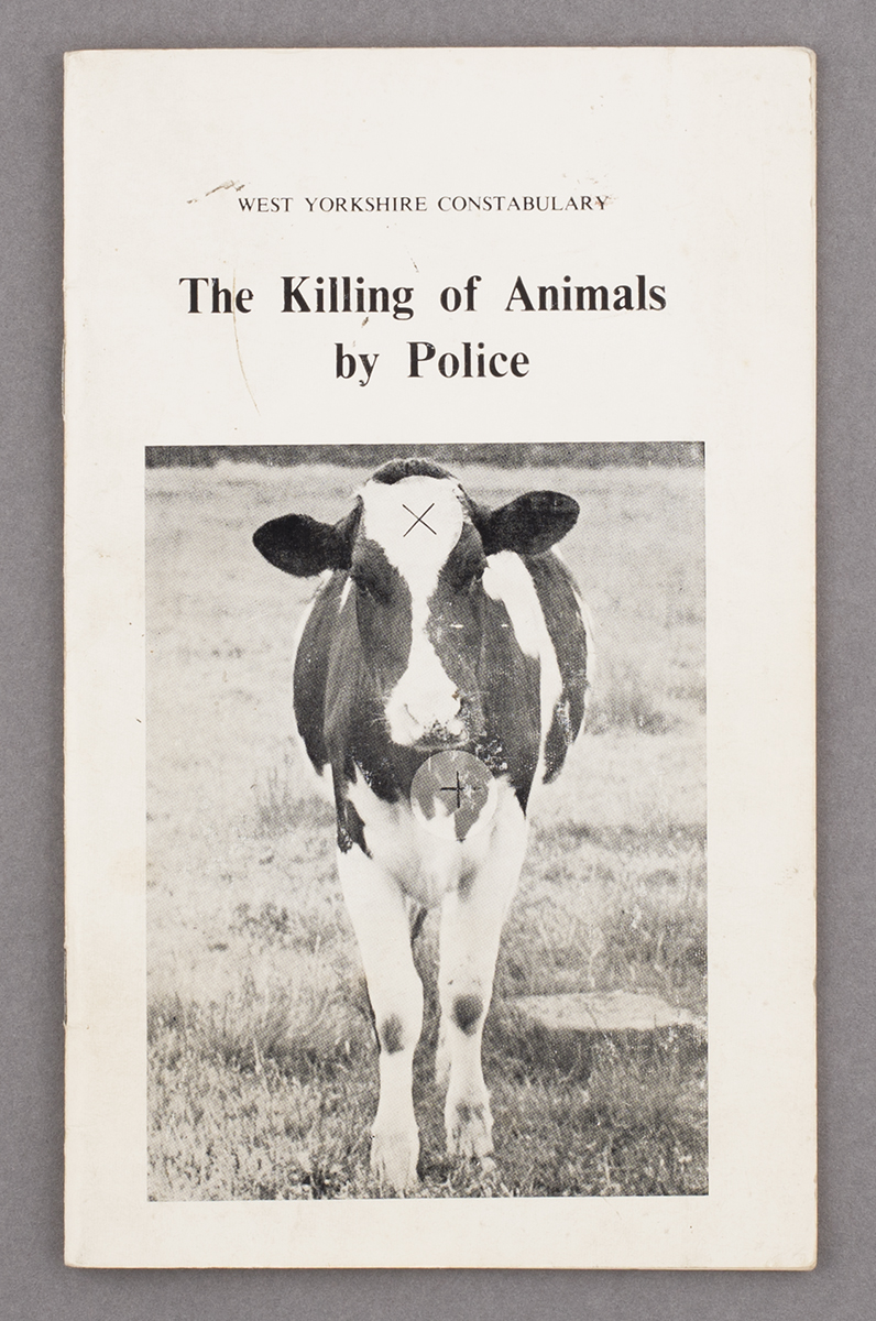Police handbook on the killing of animals, found in Yorkshire