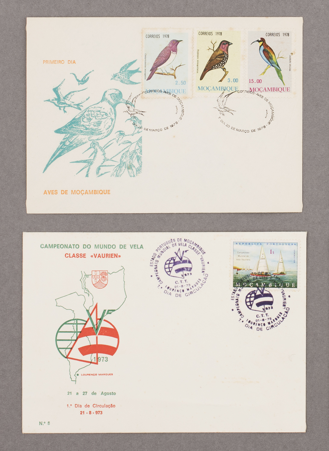 First day covers from Mozambique, 1978 & 1973,from Feira de Ladra, Lisbon