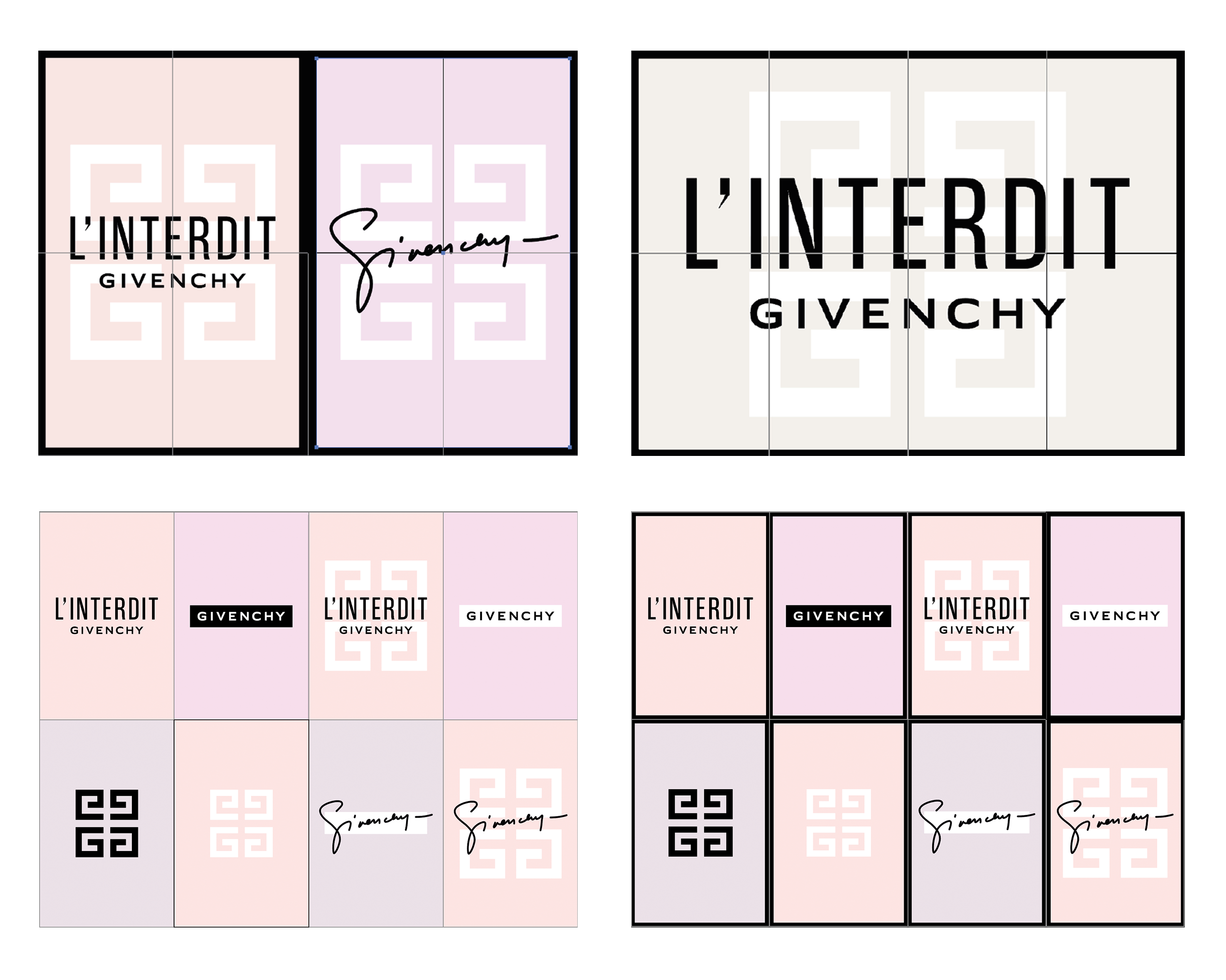 Initial concept options for poster hoardings.