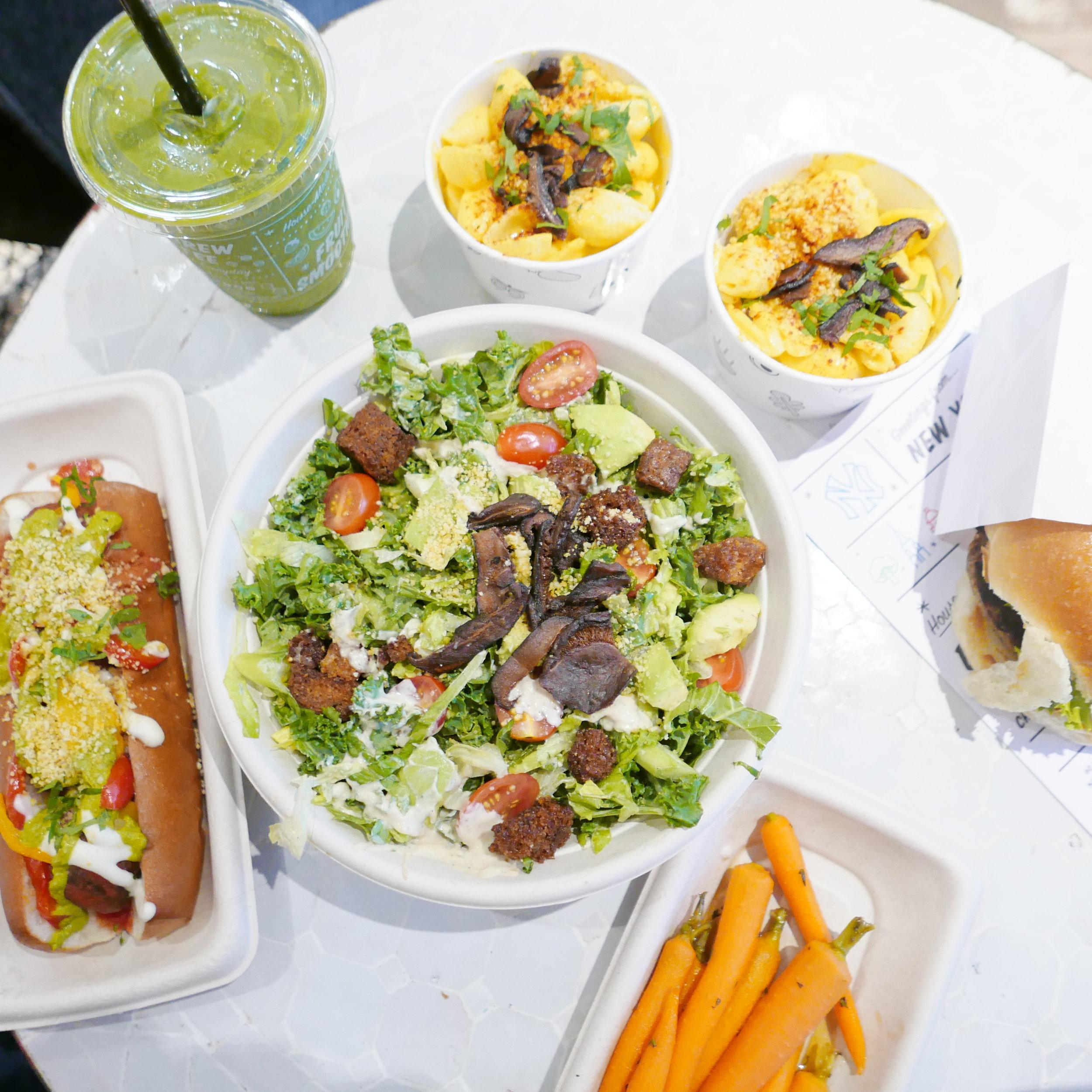 Caesar Salad, Meatball Sub