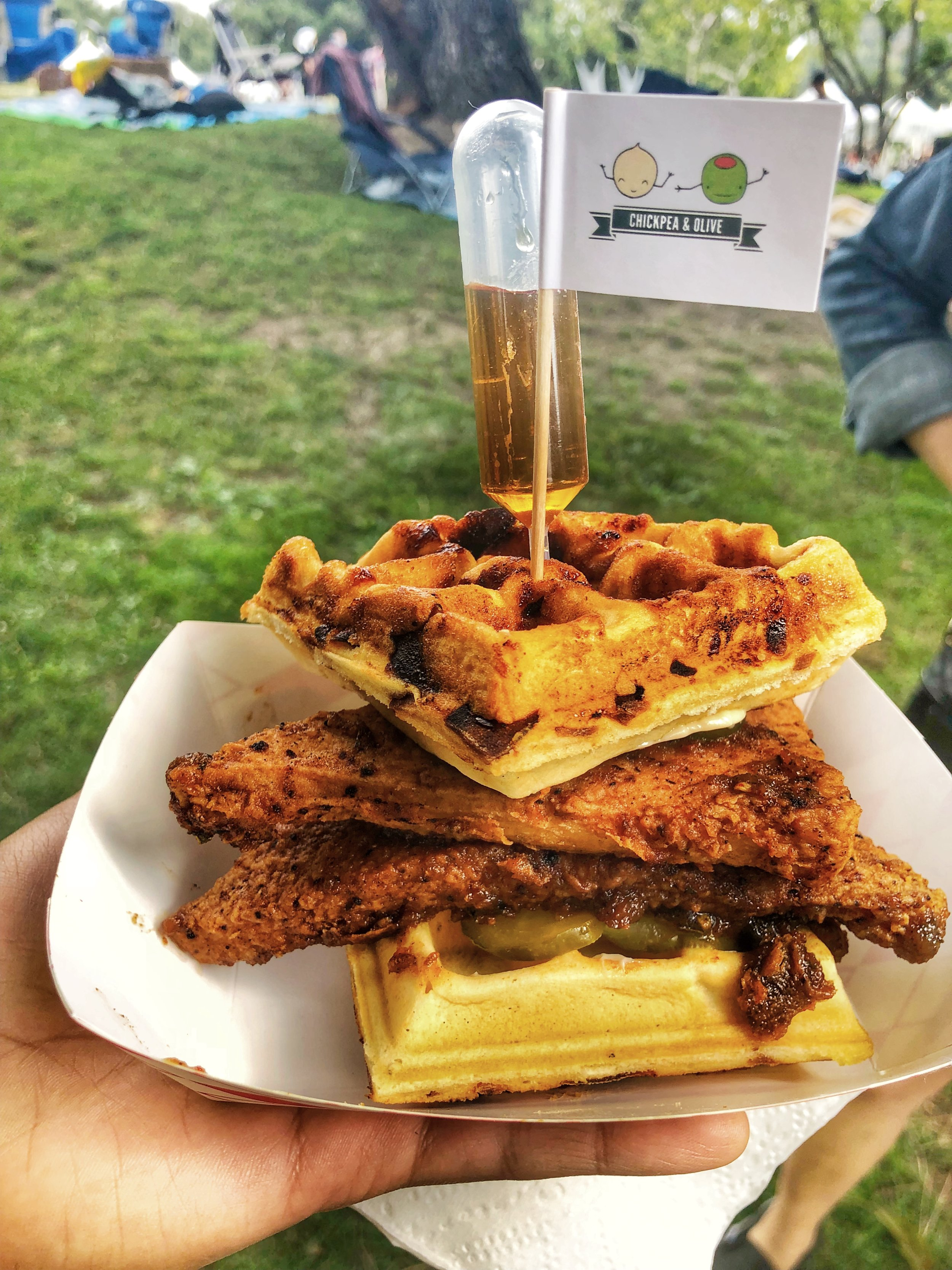 Even though they're from New York, I love them! Spicy Chicken & Waffles