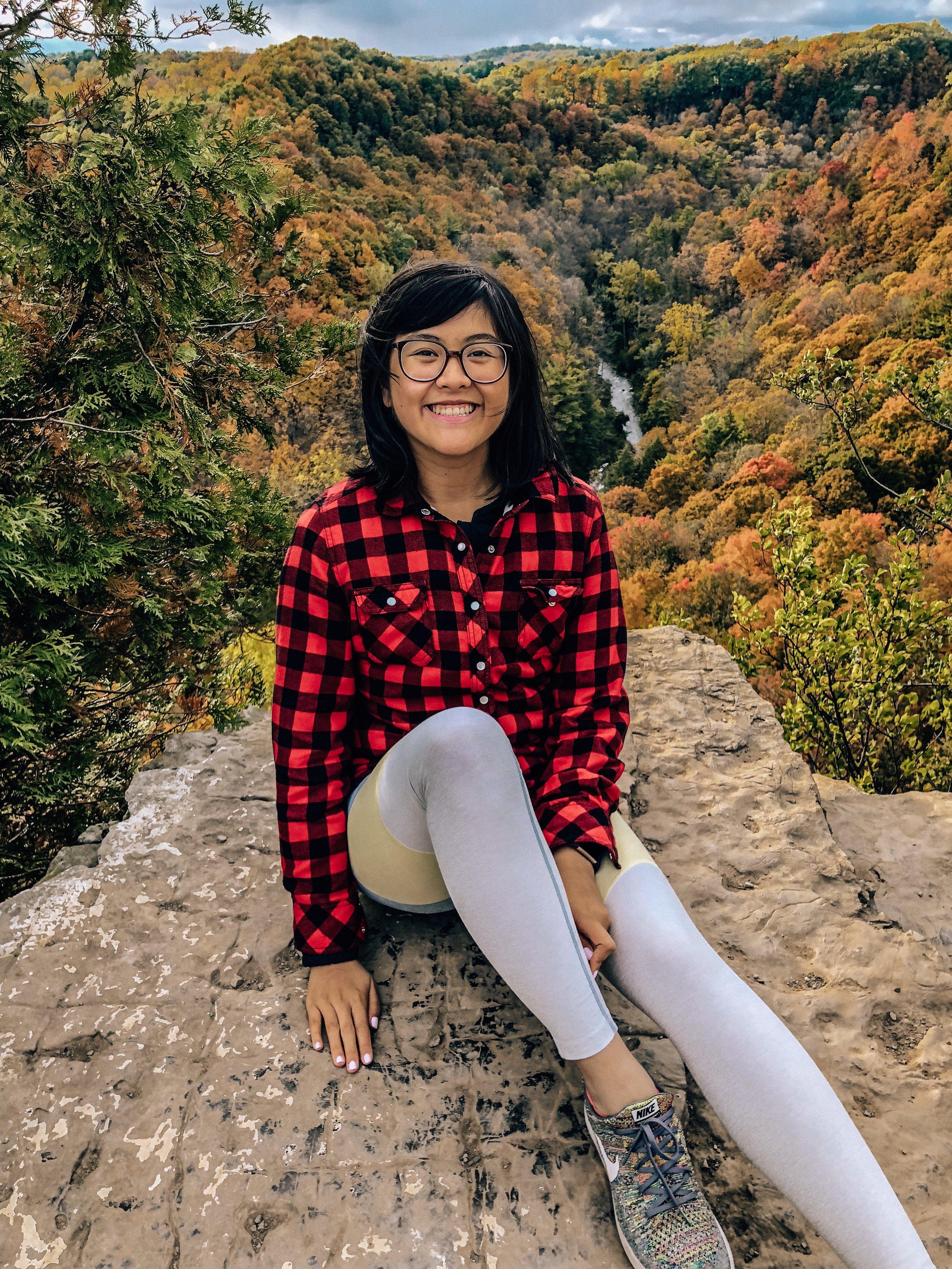 Me at Tews Falls