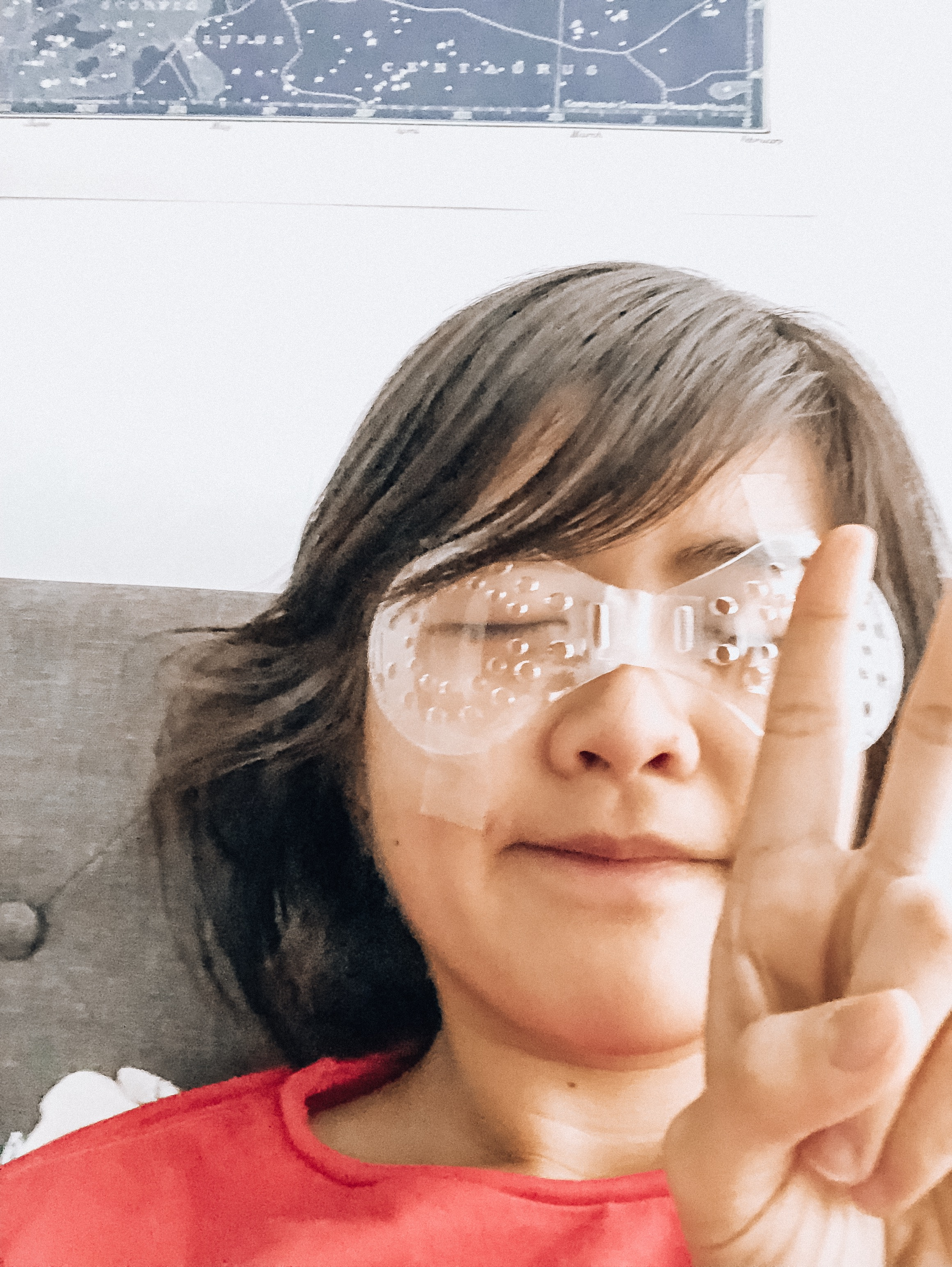 Clear Plastic Sleeping Shield