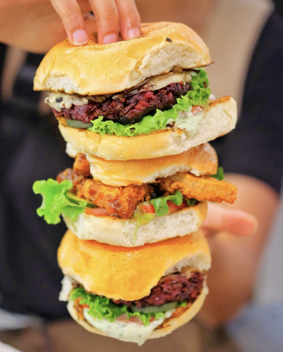 Phatty Meat Burgers + Hot Nashville Tofu Sandwich