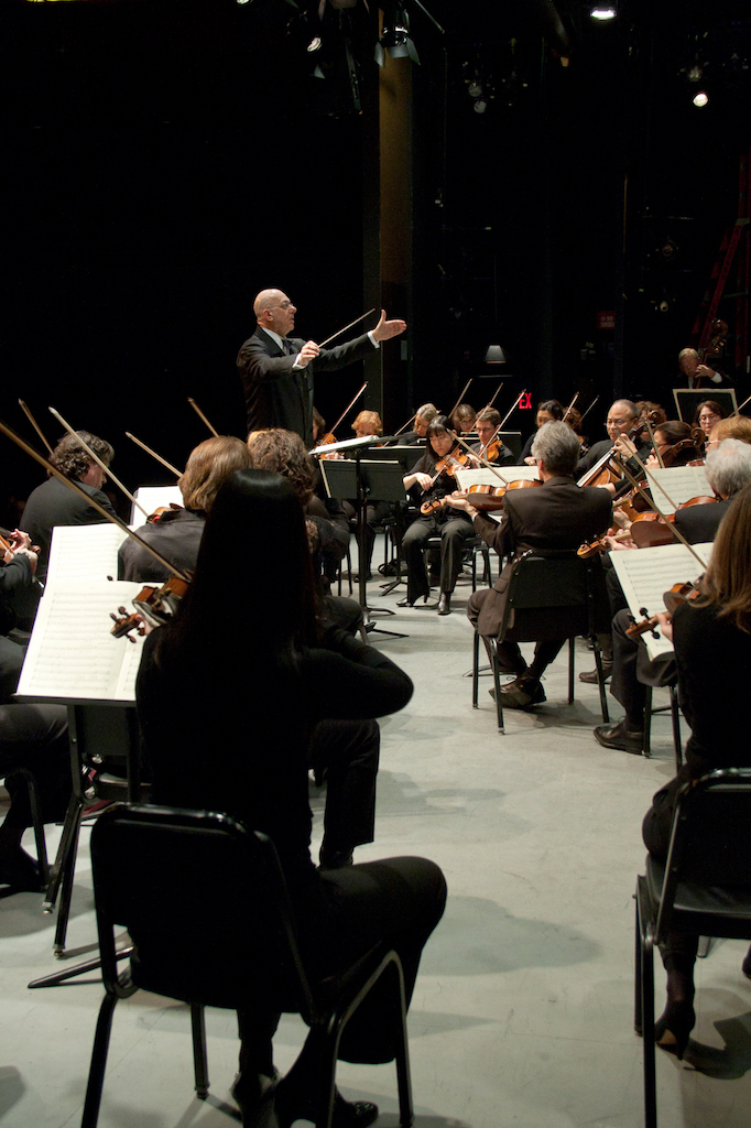 Conducting the American Symphony Orchestra at Symphony Space - Photo by Jito Lee