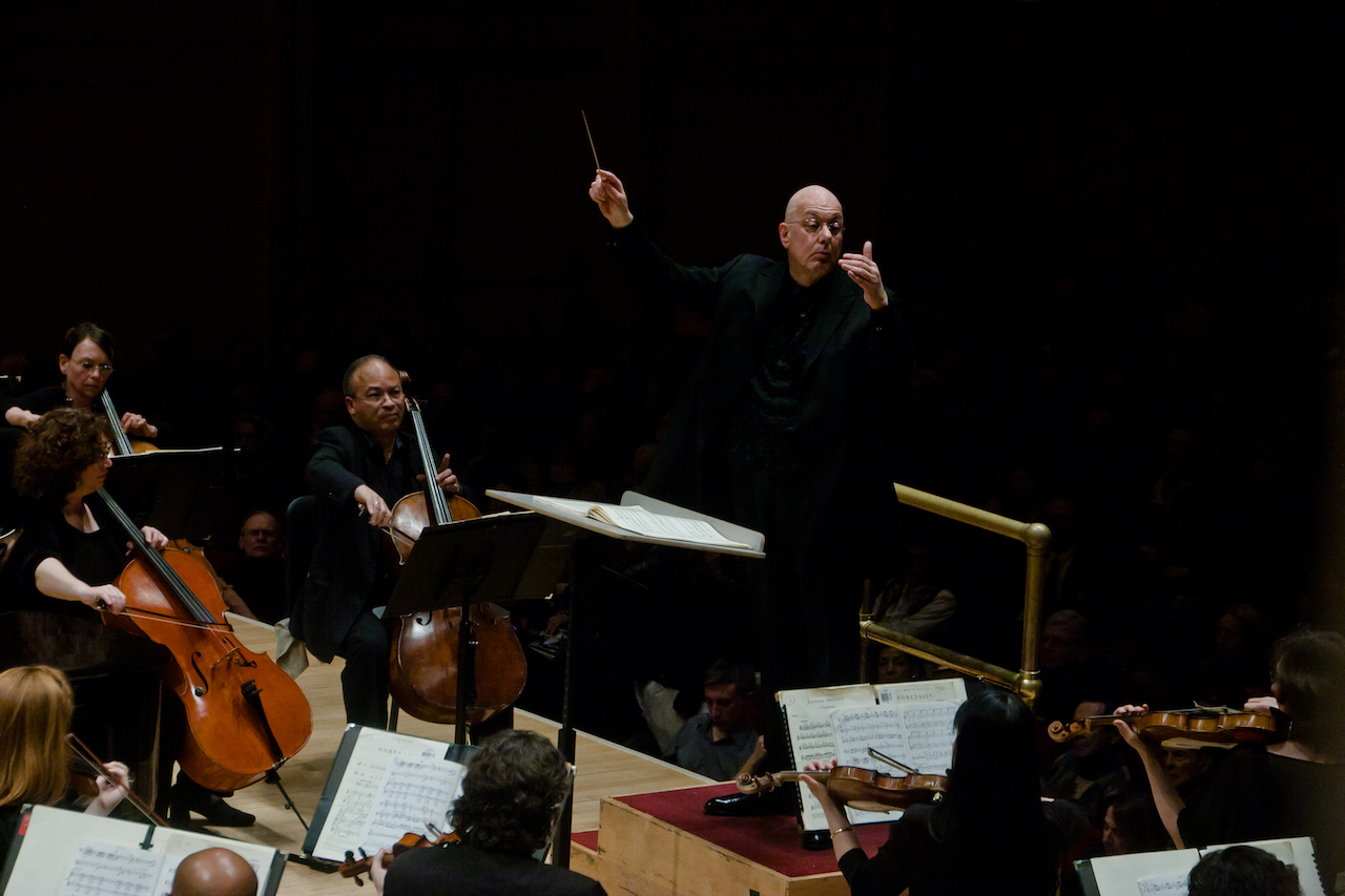 Conducting the American Symphony Orchestra at Carnegie Hall - Photo by Jito Lee