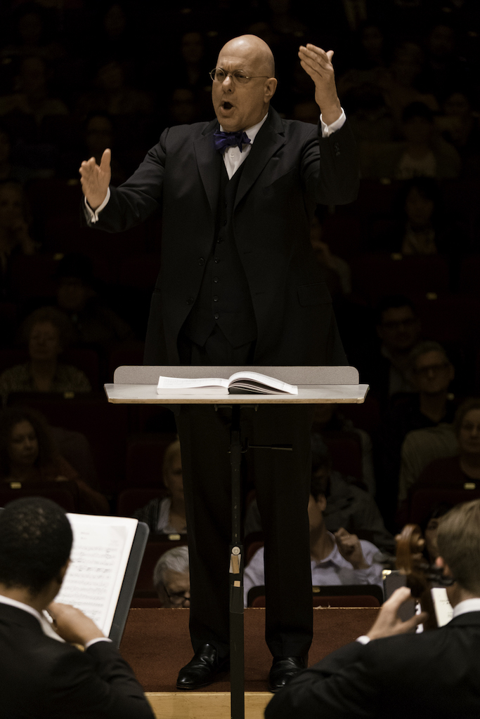 Conducting The Orchestra Now at Carnegie Hall - Photo by David DeNee