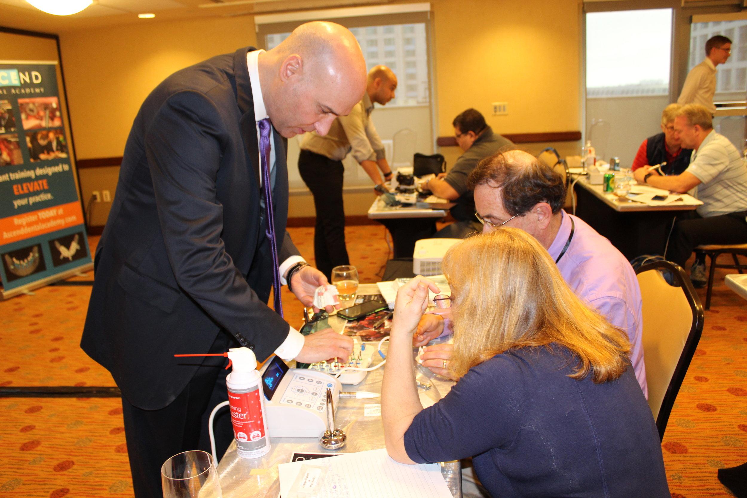 Dr. Nazarian mentoring doctors during hands-on workshop