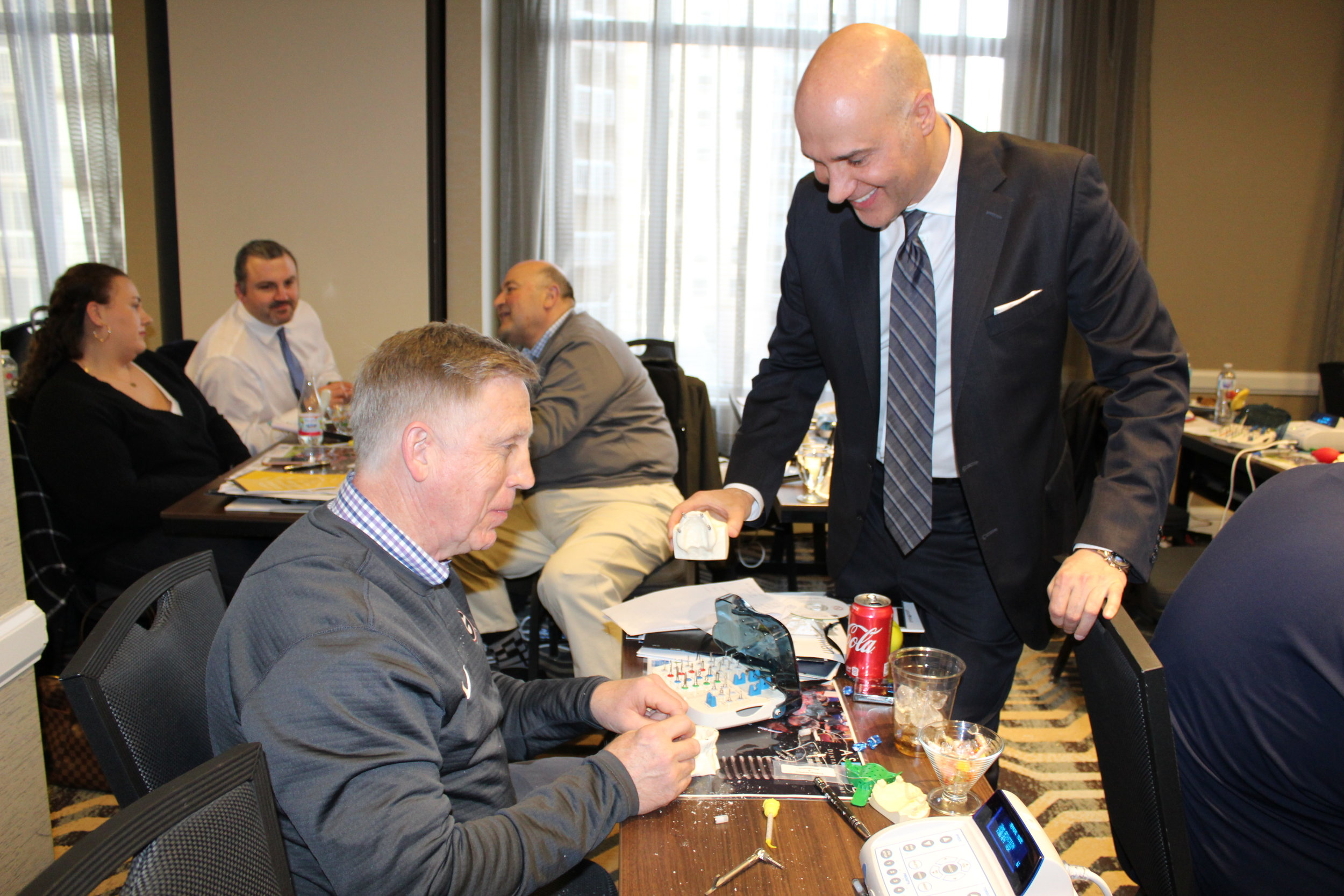 Dr. Nazarian one-on-one mentoring during hands on workshop.