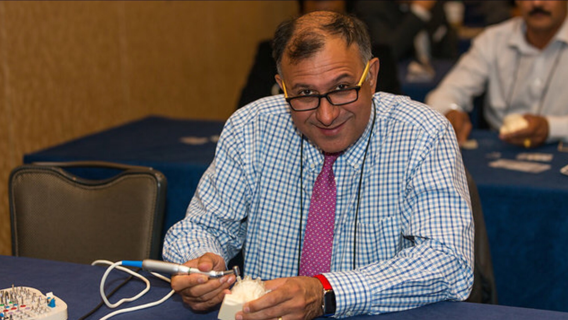 Attendee during Dr. Ara Nazarian's course at AAID