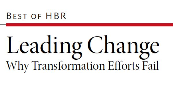 Kotter's 8 steps are a great guide to guiding the change process in any group or organization.   HBR