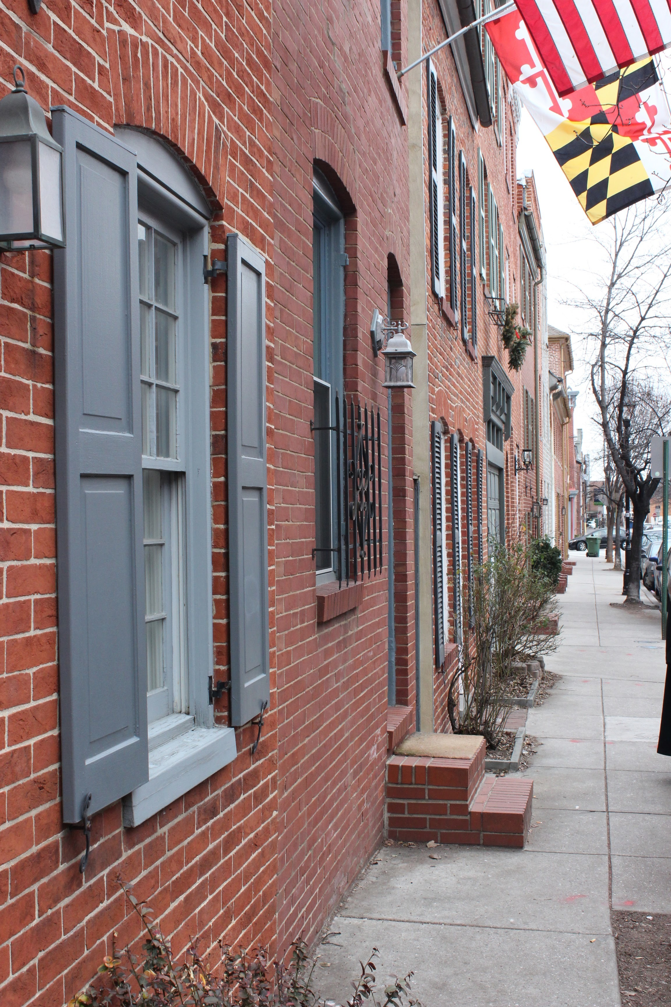 Famous brick row houses of Baltimore and Fells Point
