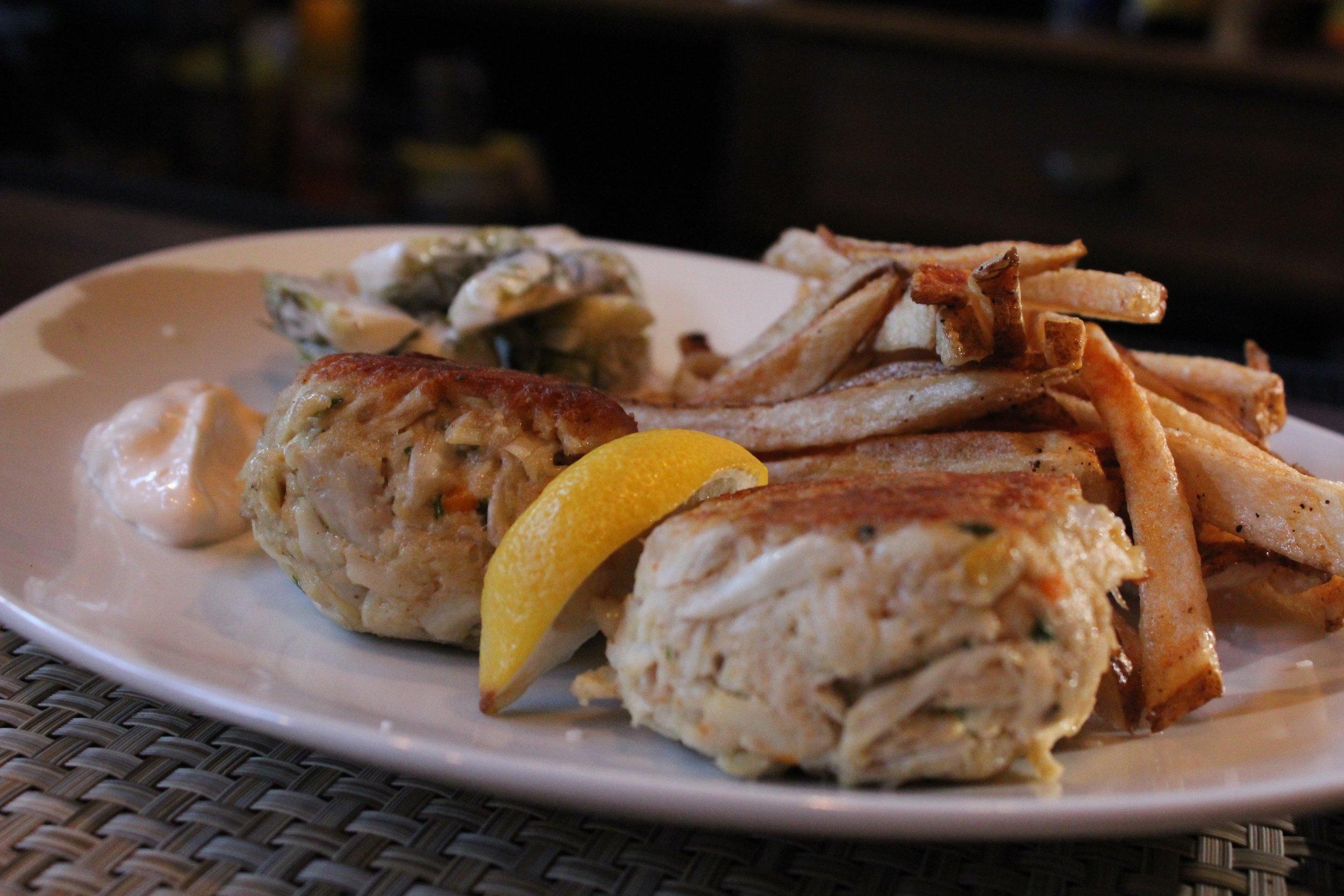 Pier Point (https://www.pierpointrestaurant.com) Chef Nancy Longo's Smoked and Standard Crab Cakes