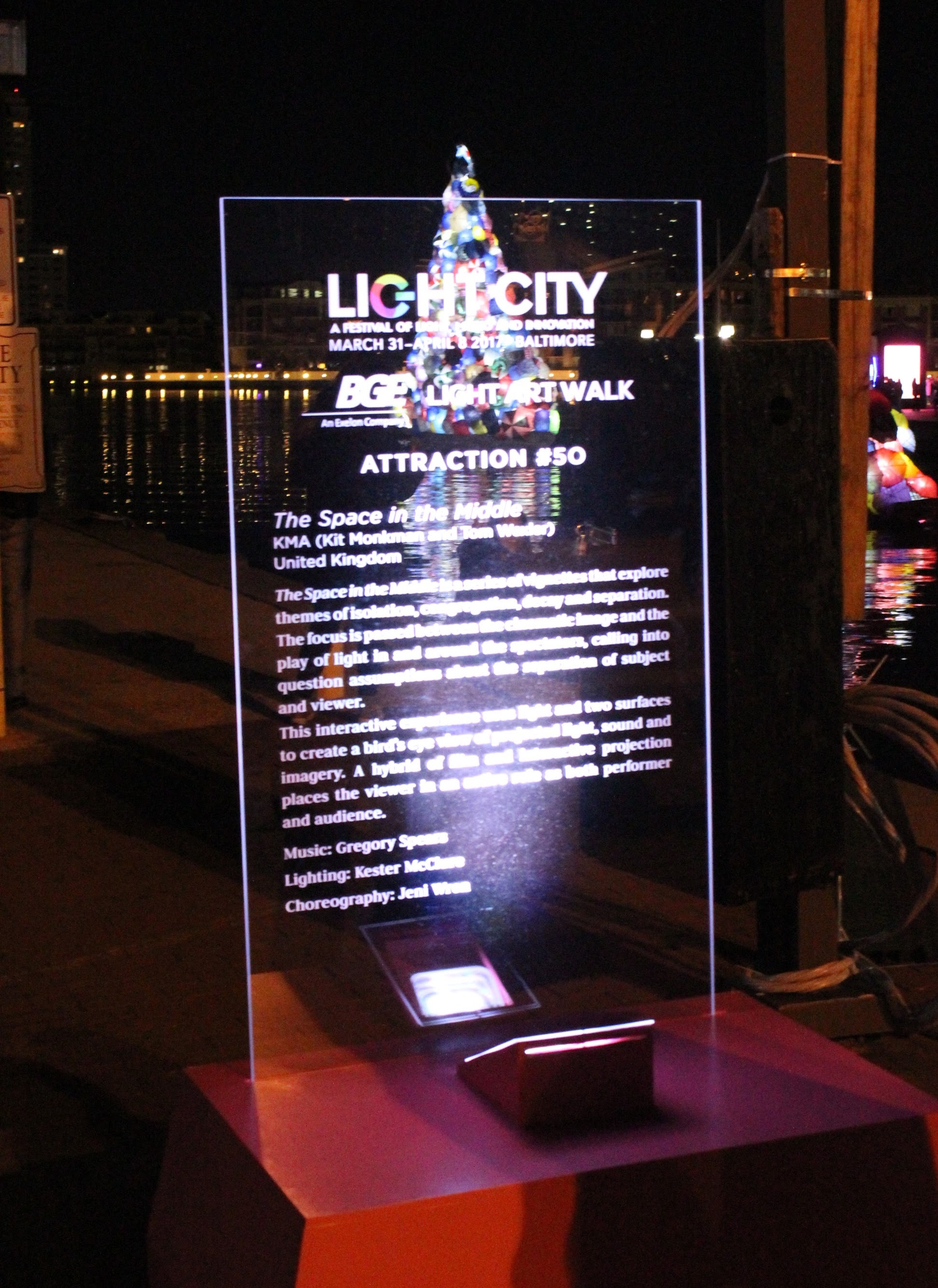 Light City Plaque from last year