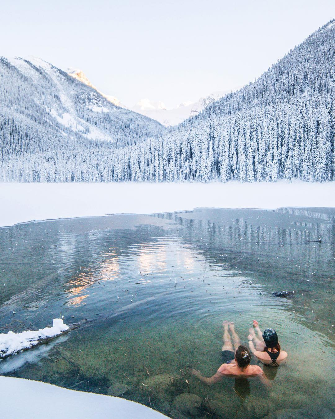Hey, you down to chill in this frozen lake with me? - WHAT?! …..Oh god. Ok.