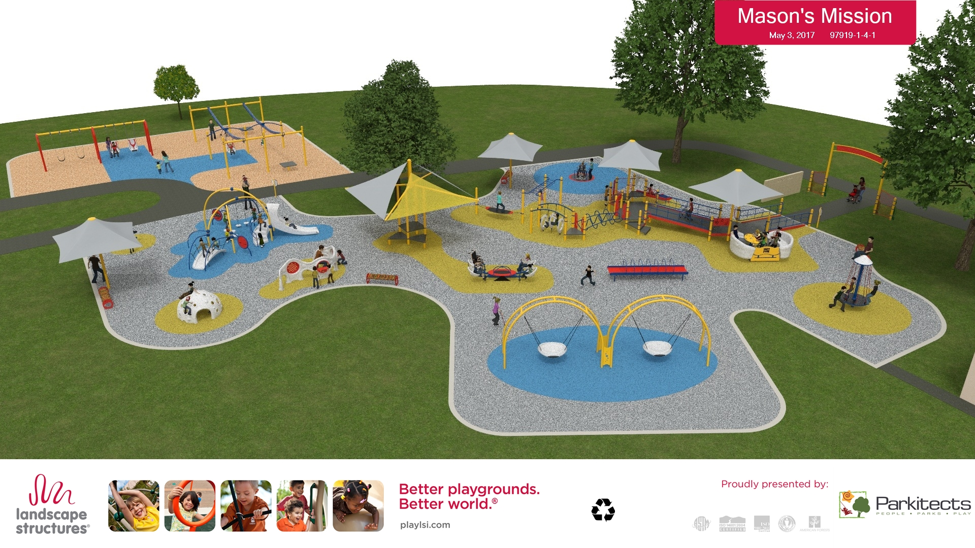And lets not forget the very first of it's kind and our pride and joy, Mason's Mission Pendleton Park Playground