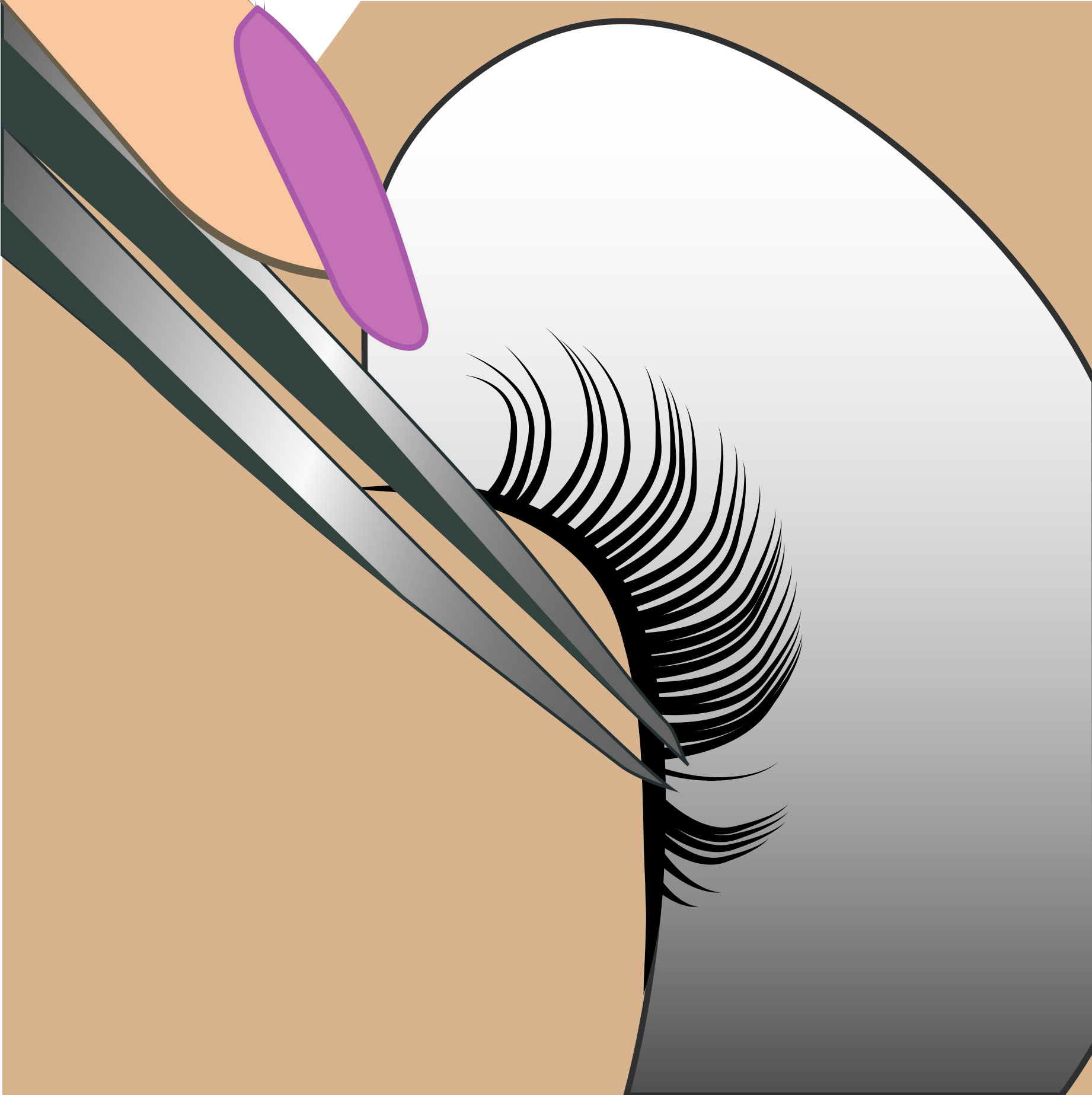 Each eyelash extension is carefully & skillfully applied by hand… -