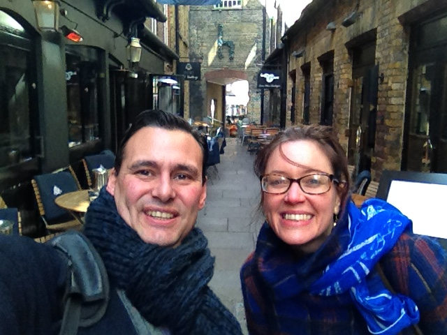 Alejandro exploring London (en español) with recent BSL student, Jenny.