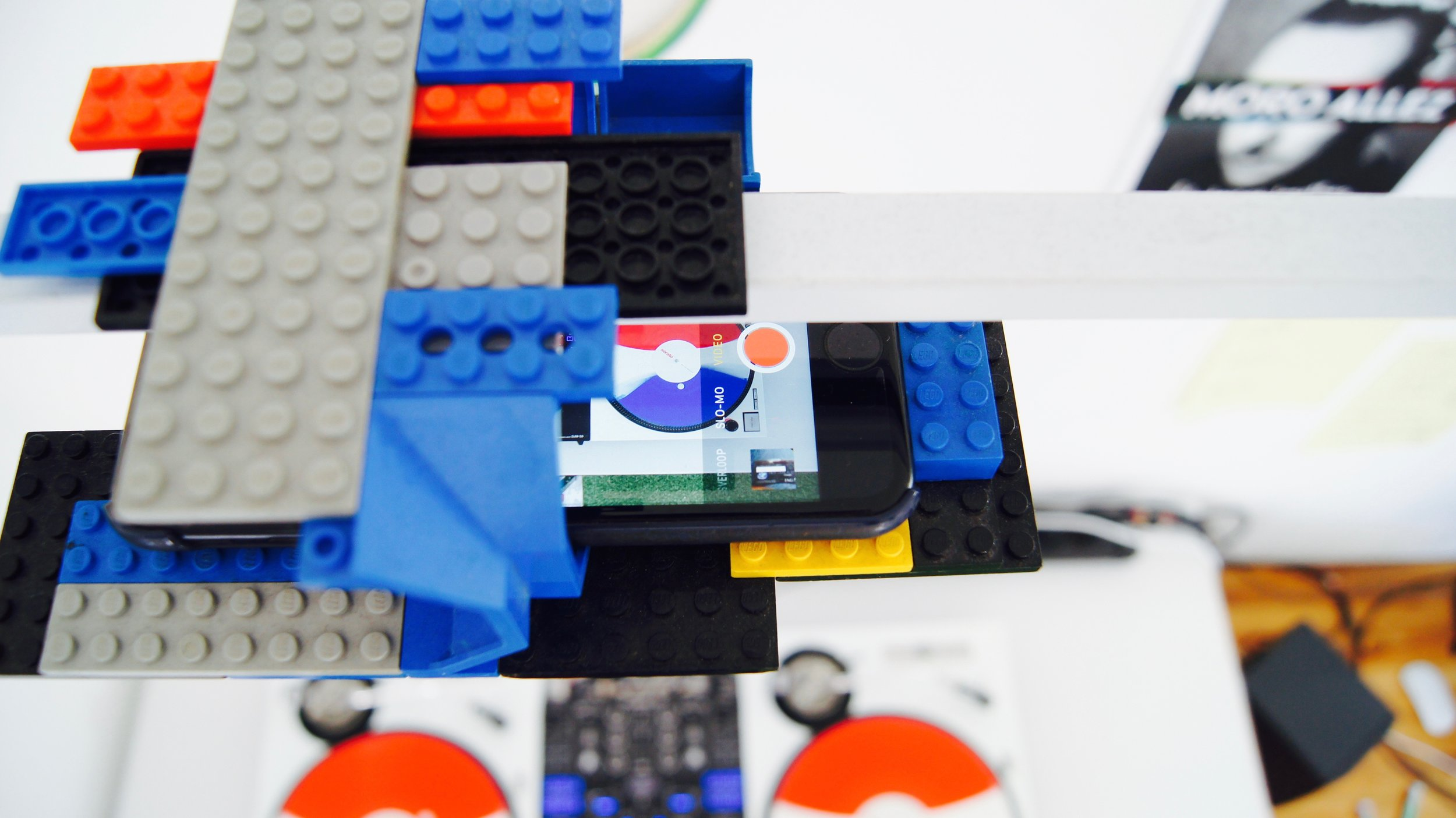 """Custom made iPhone LEGO holder. Why not?"""