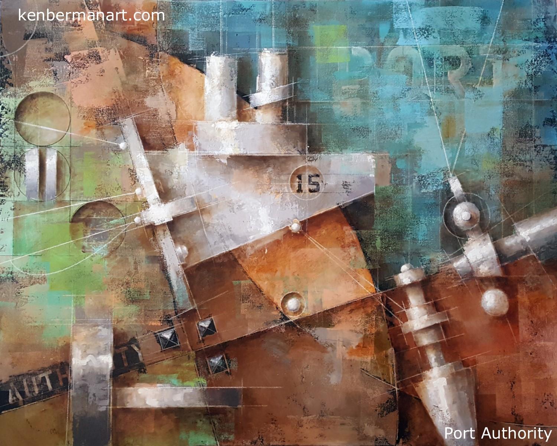 "Title: Port Authority  Medium: Oil & Colored Pencil on Canvas  Size: 24"" x 30""  Copyright: 2017  Catalog #: 17.009"