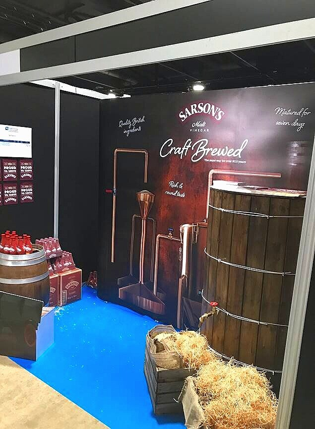 Bespoke props for Sarsons exhibition stand