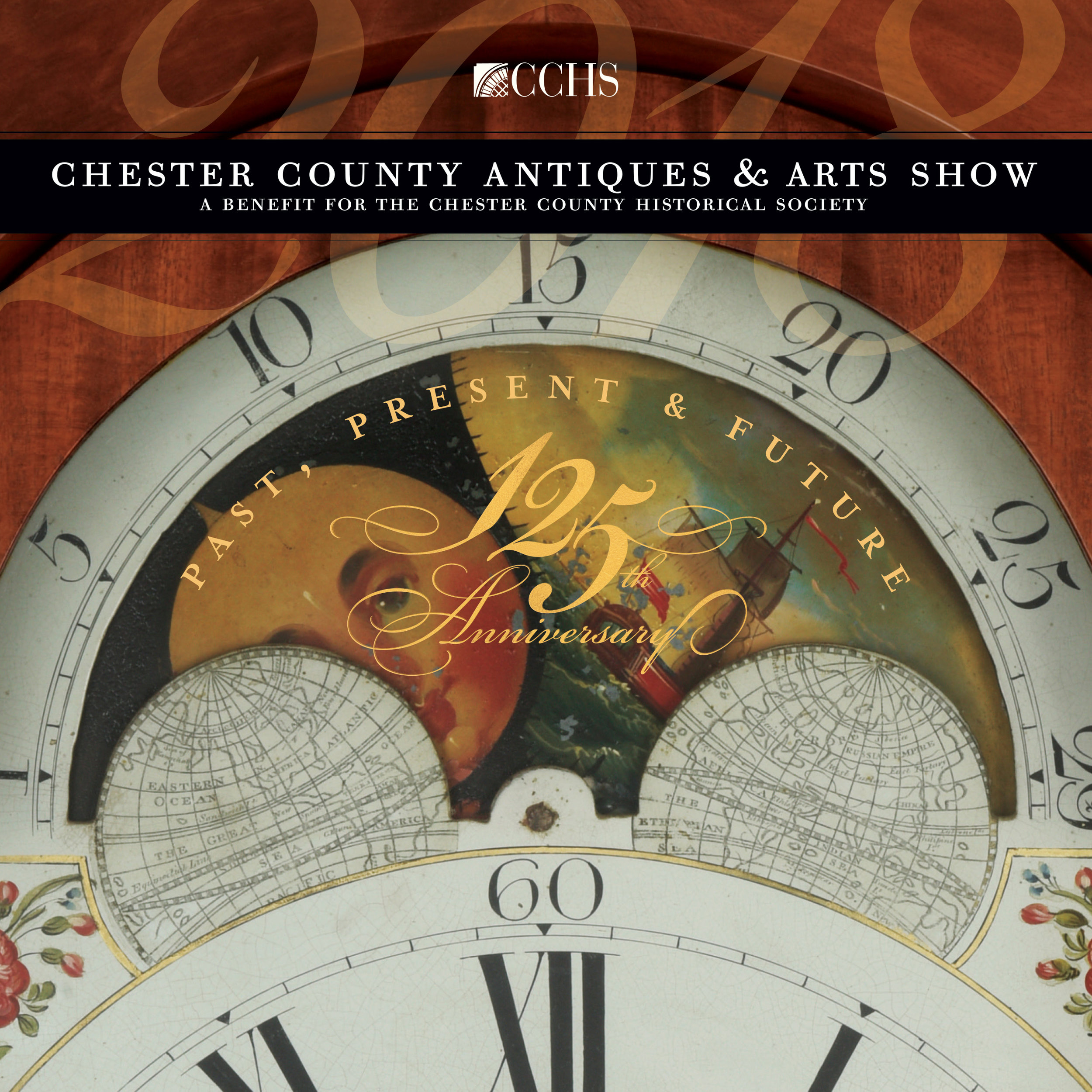 _  Chester County Antiques & Arts show  2018  print, web, event
