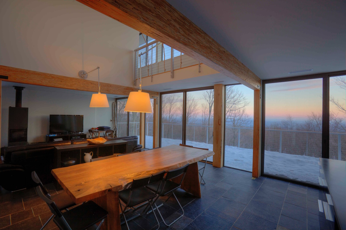 warm lighting in modern home