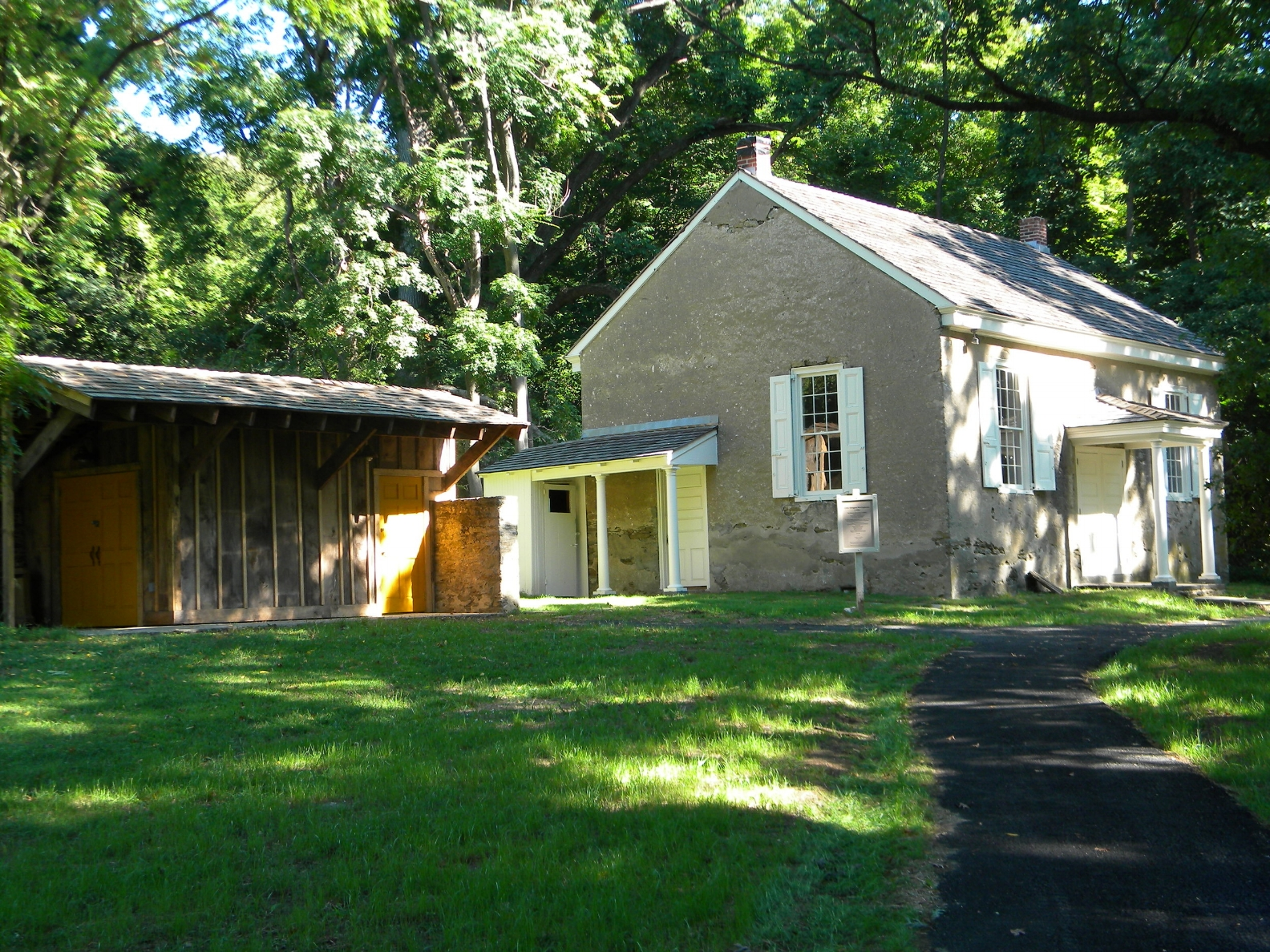 Meetinghouse Reclaimed Wood Outbuilding with Renovated Stone Building 2.jpg
