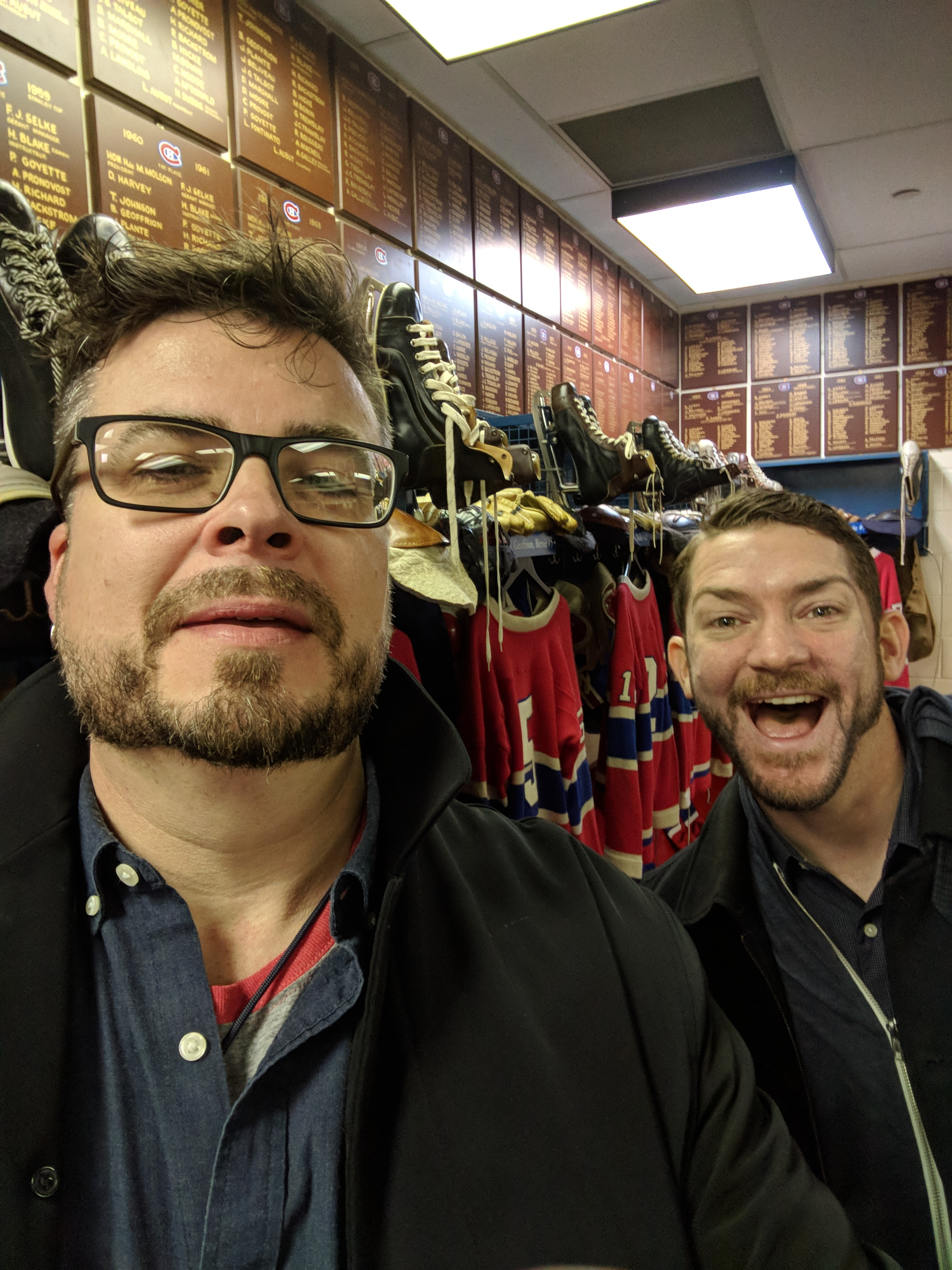Dan wanted to see the Hockey Hall of Fame before the Dinner.