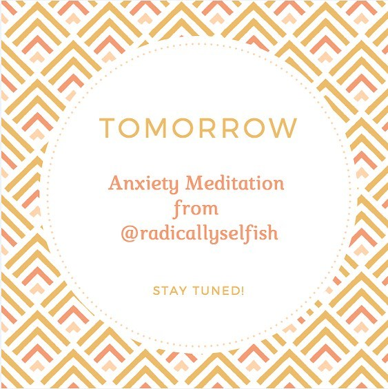 Feeling the holiday season stress? We've got your back. Check in tomorrow for a guided anxiety meditation from transformational mentor Michelle Keinan. Keinan is a co-founder of @citywellnesscollective and creator of the new @radicallyselfish, which features podcasts, blogs, and digital content for personal empowerment.