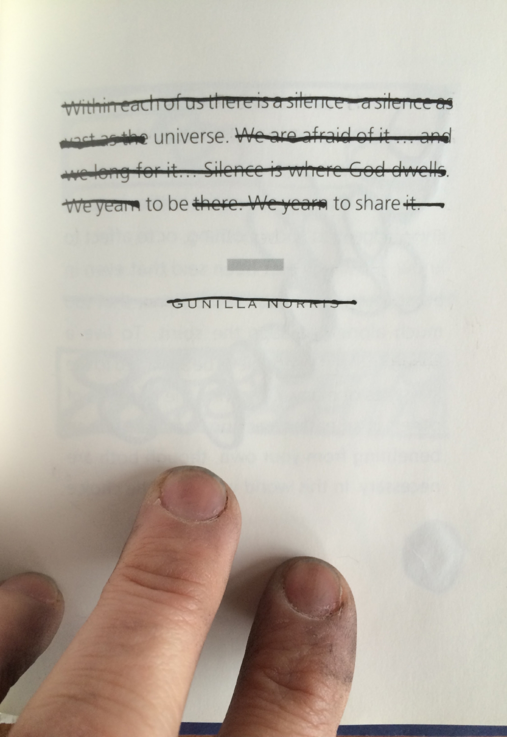 Universe  to be  to share  Book, ink and time.