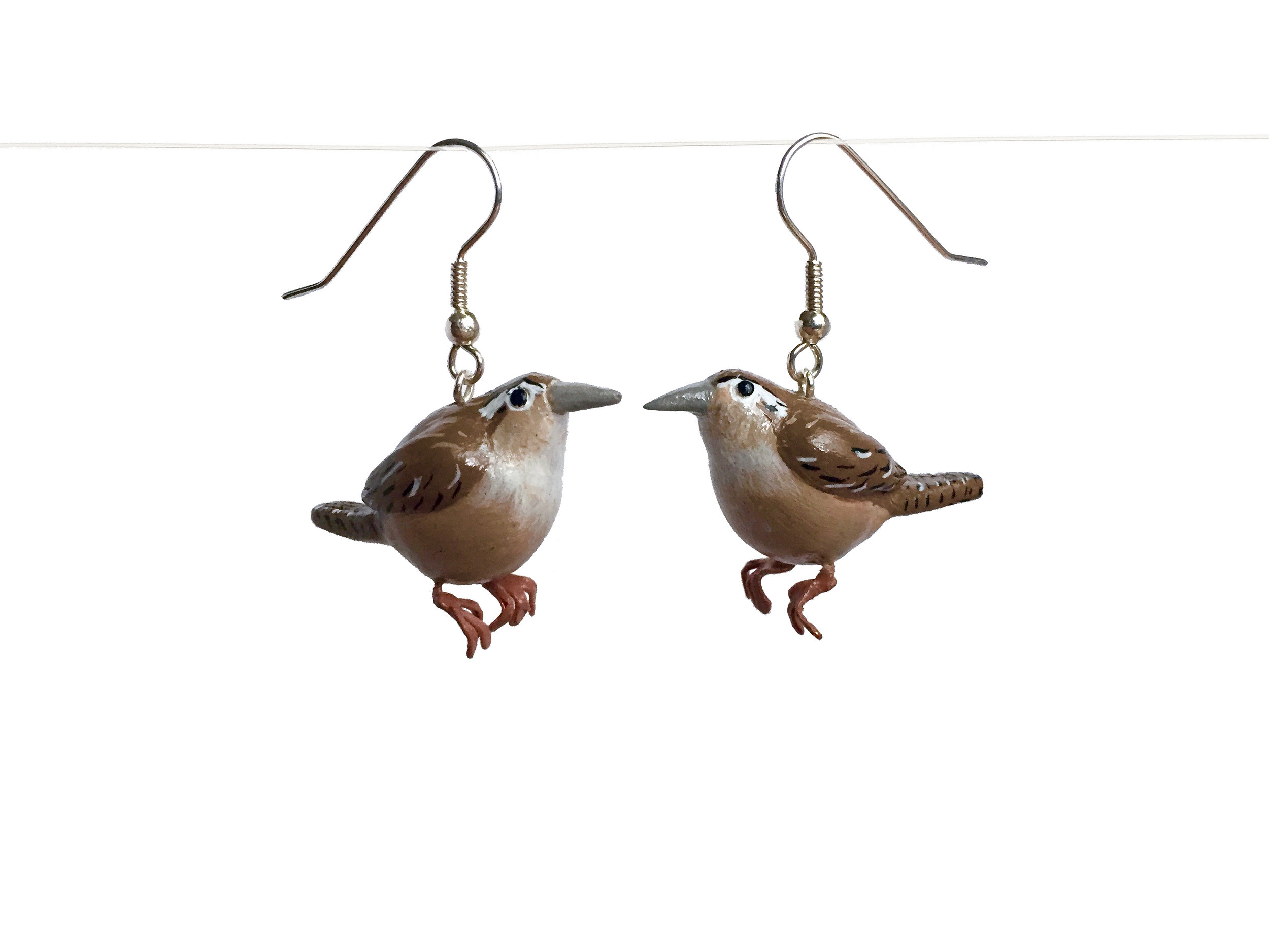 Wrens Polymer Clay Earrings