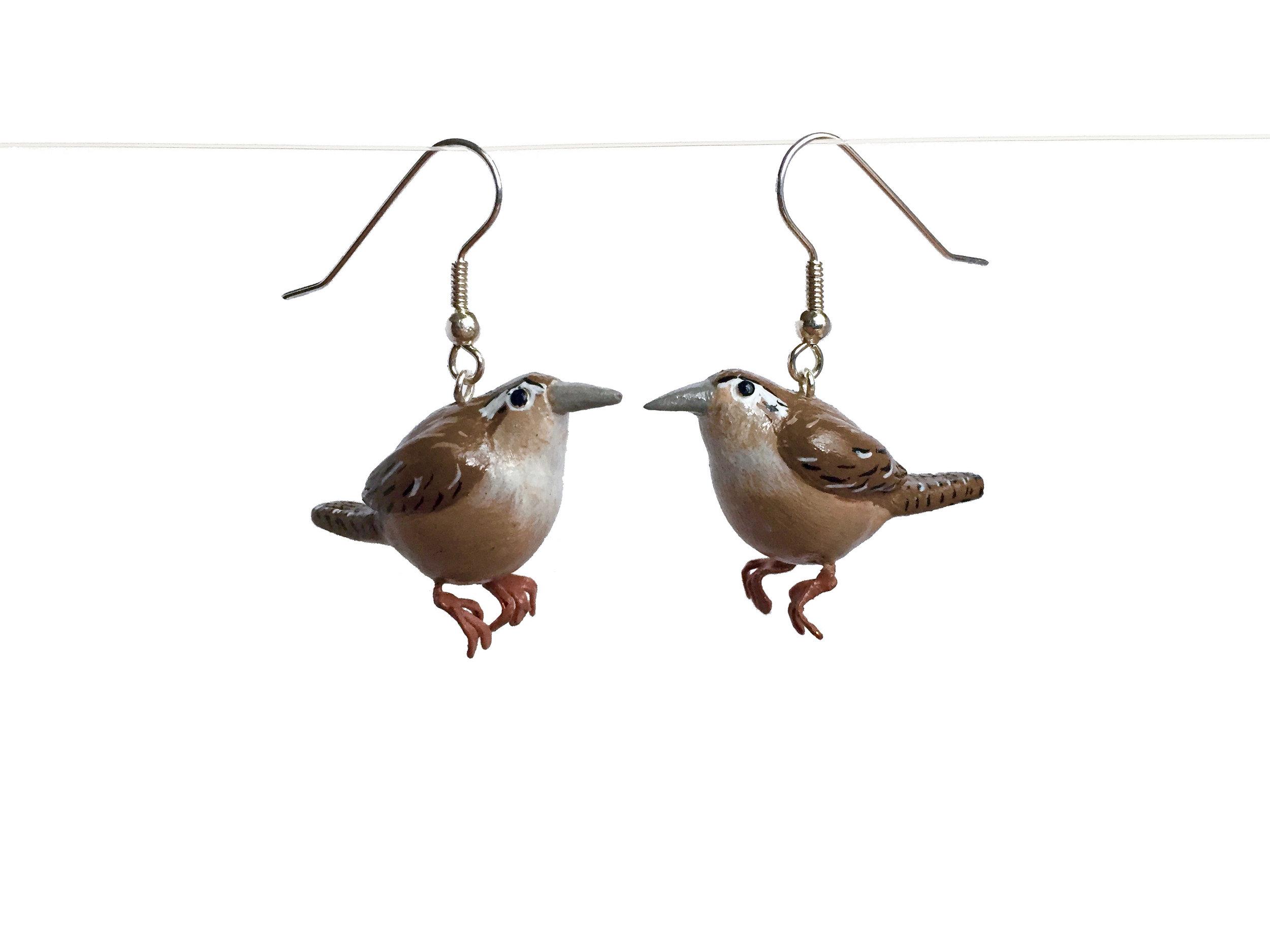 Wrens Polymer Clay Earrings