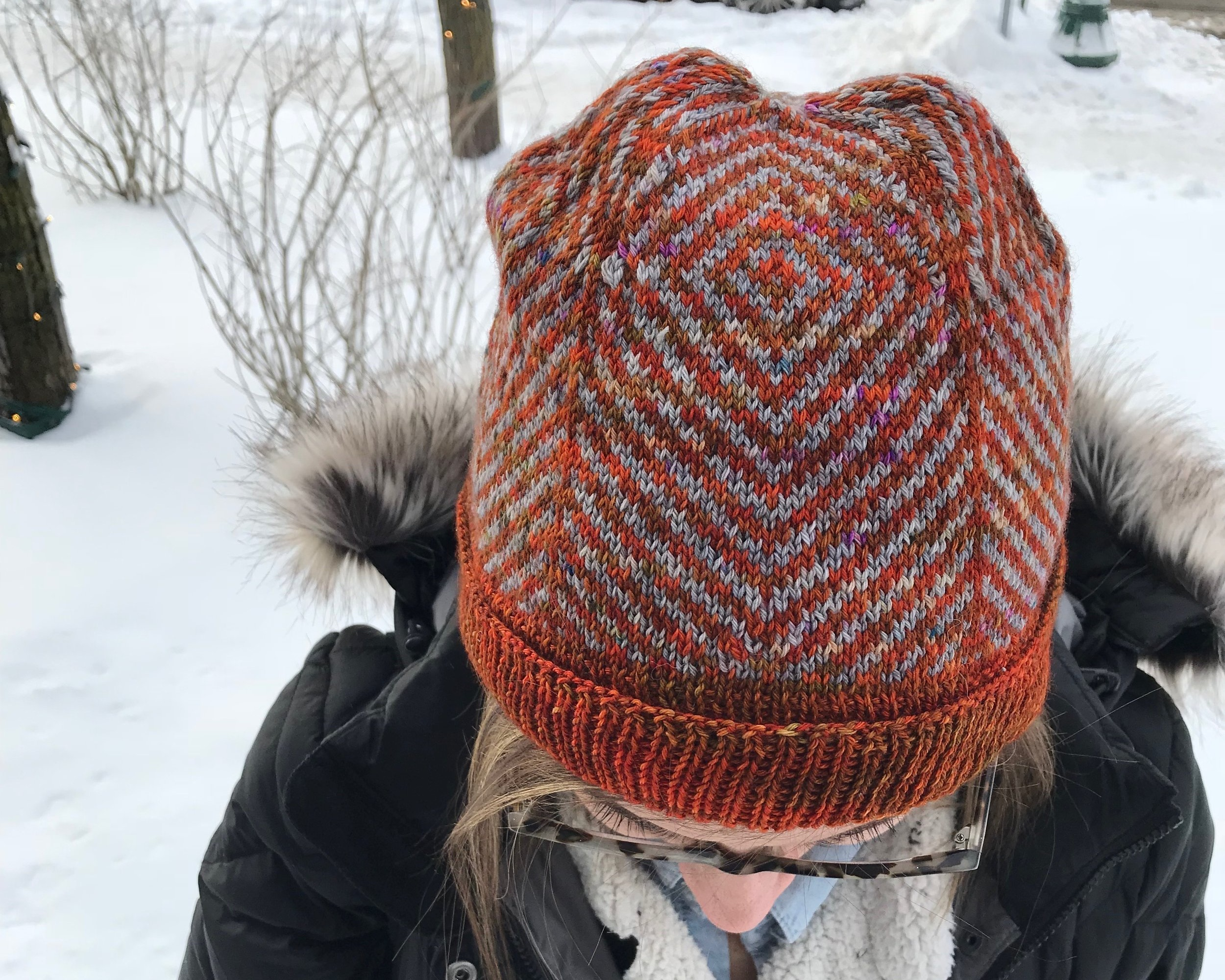 Micah Hat - The Micah Hat was first designed with lace weight cashmere yarn my husband got me as the best christmas present. The diamond shaped panels form a star when viewing from the crown.Ellen Coy - Ellen Rose Knits#micahhat #ellenroseknits