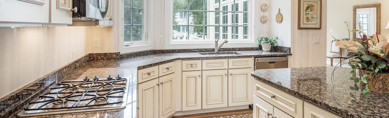 real estate photo of kitchen by robert miller photography