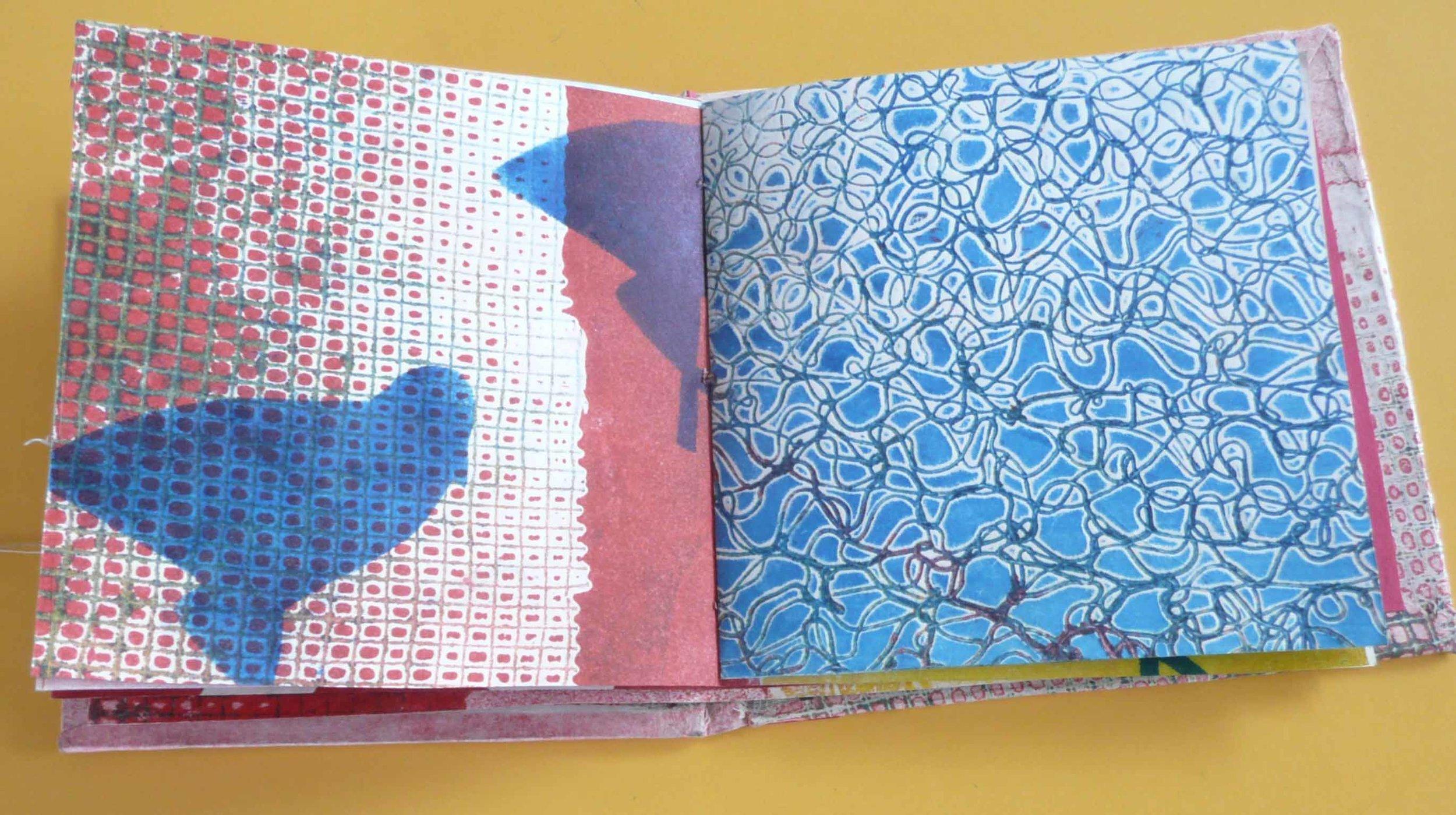 Collagraph, stencil, artist book