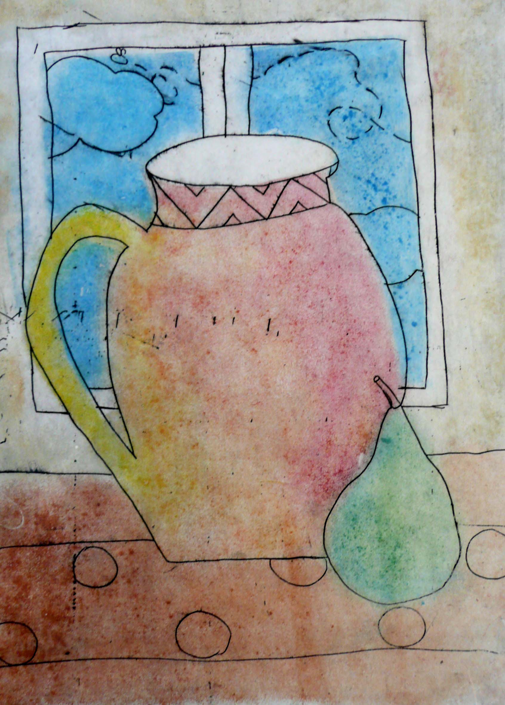 Drypoint etching, monotype