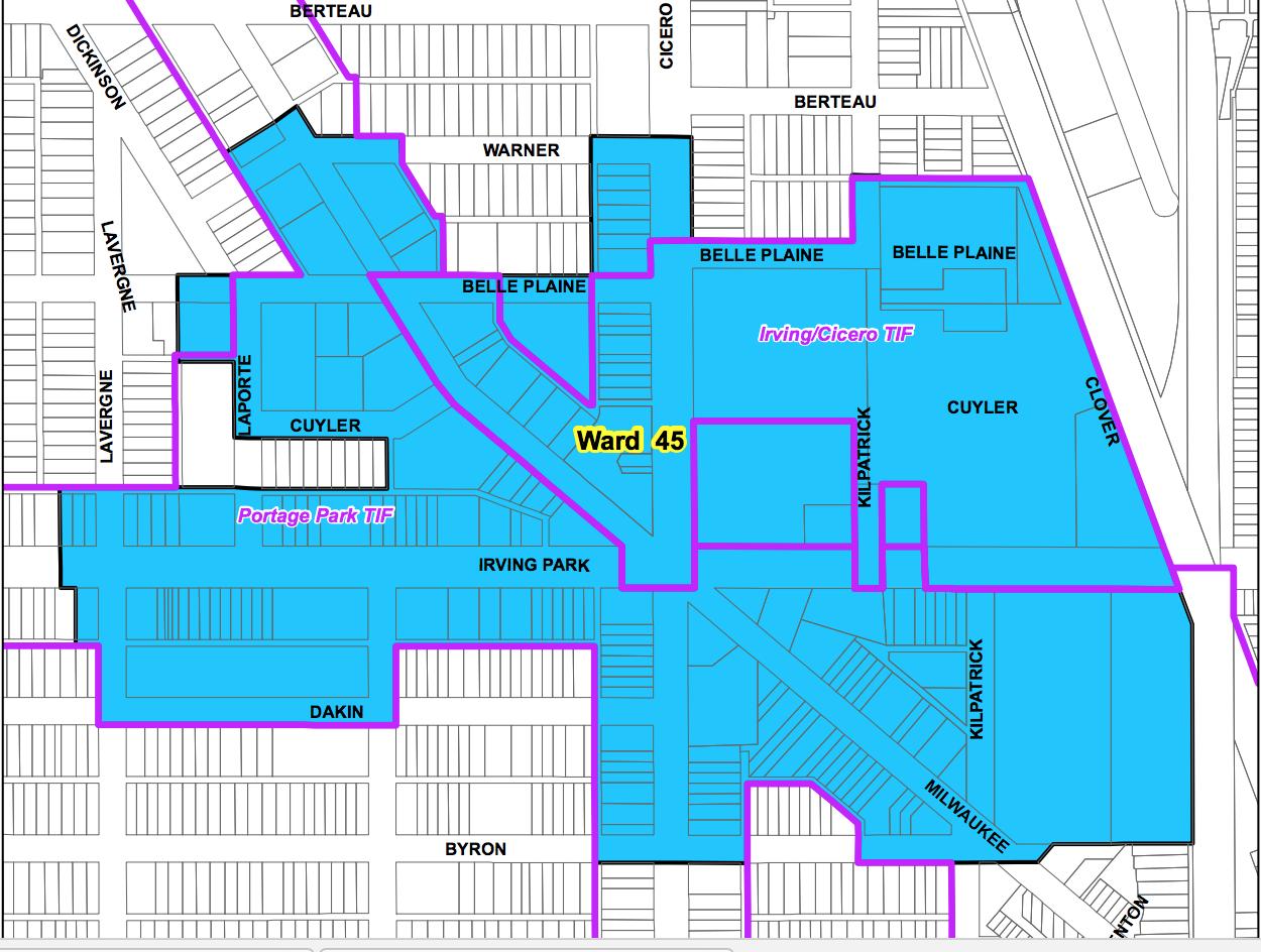 Milwaukee Ave.: Warner to Kilpatrick Irving Park Rd.: Lavergne to Clover St. Cicero Ave.: Byron to Warner (west sidewalk) and Belle Plaine (east sidewalk)