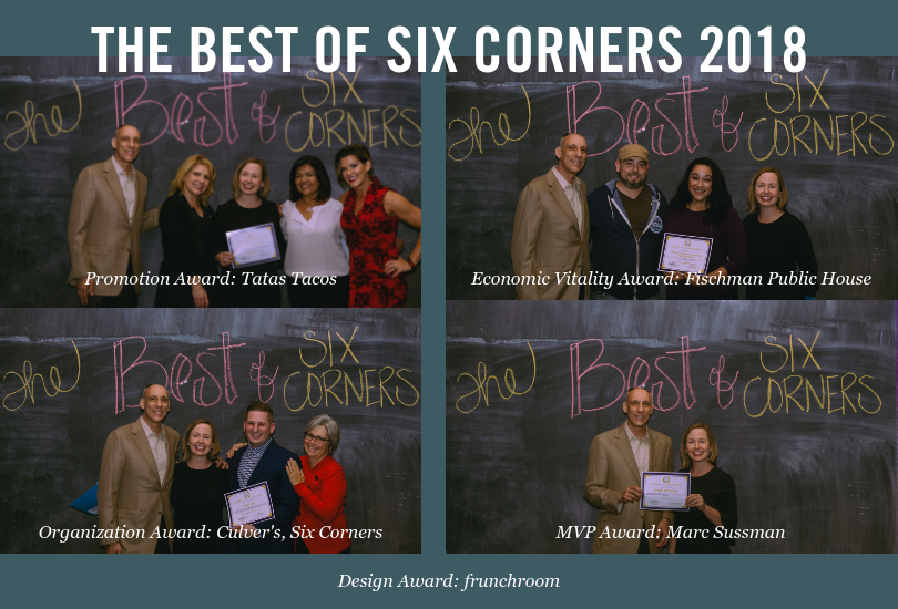 Winners of the 2018 Best of Six Corners Awards, pictured at the opening night of Crossing Six Corners at the Filament Theatre on October 19, 2018.