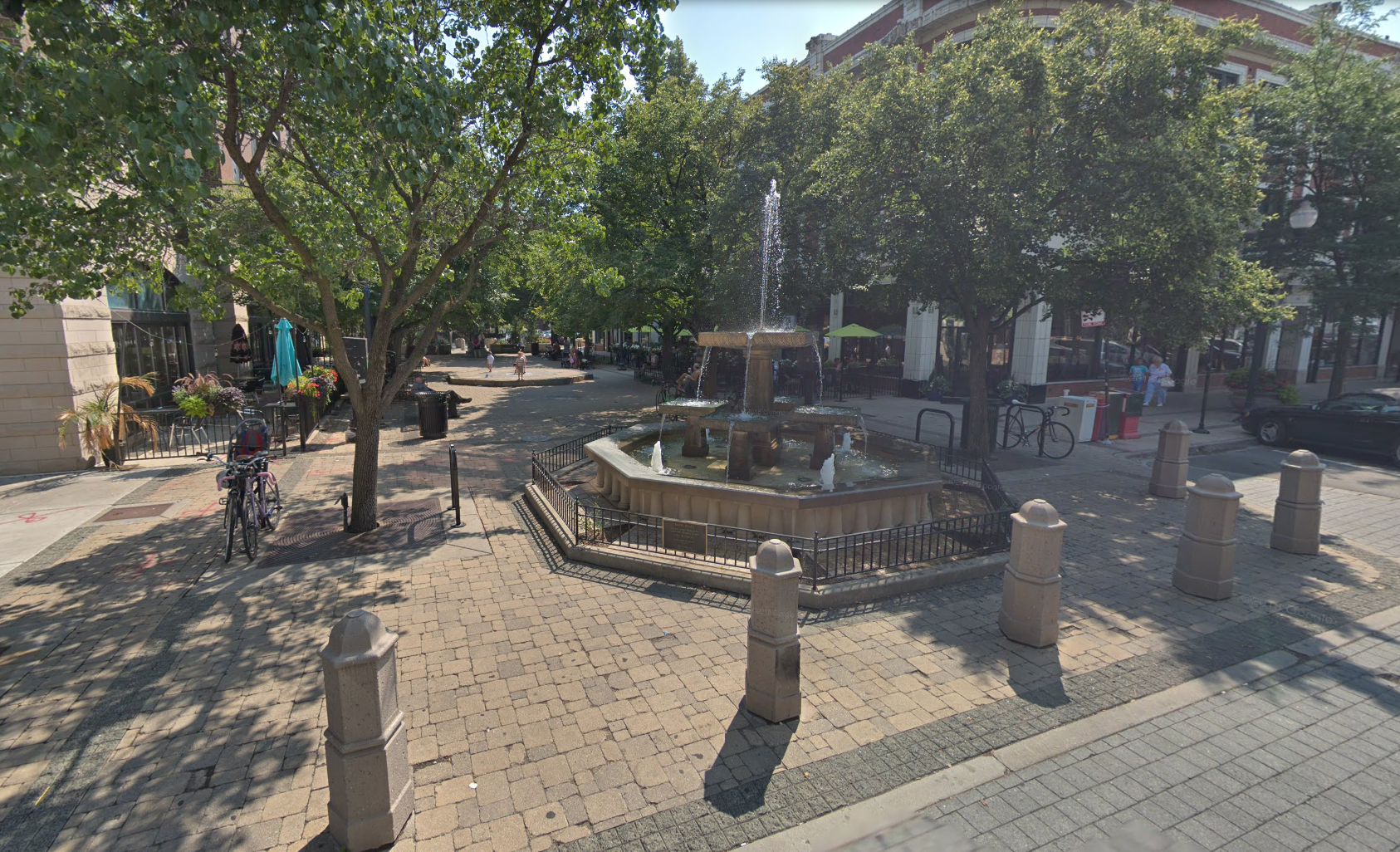 Pictured: Giddings Plaza in Lincoln Square
