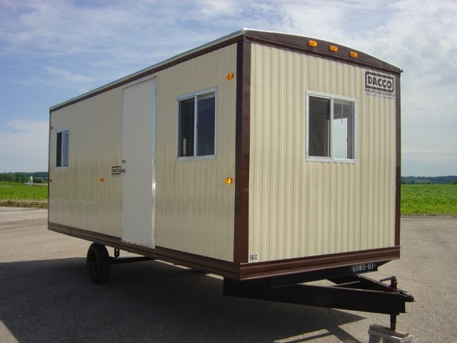 A trailer similar to the one used for the key shop