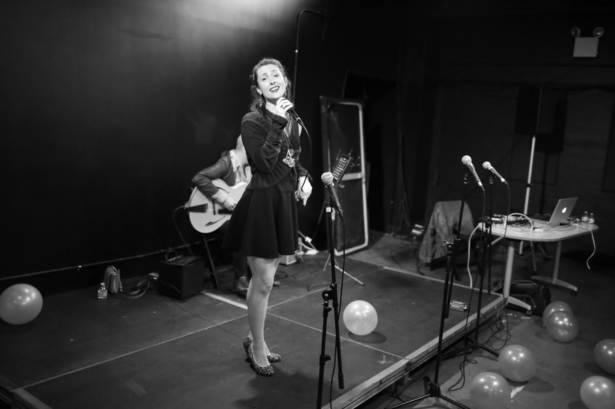 Guest musician Myriam Phiro.