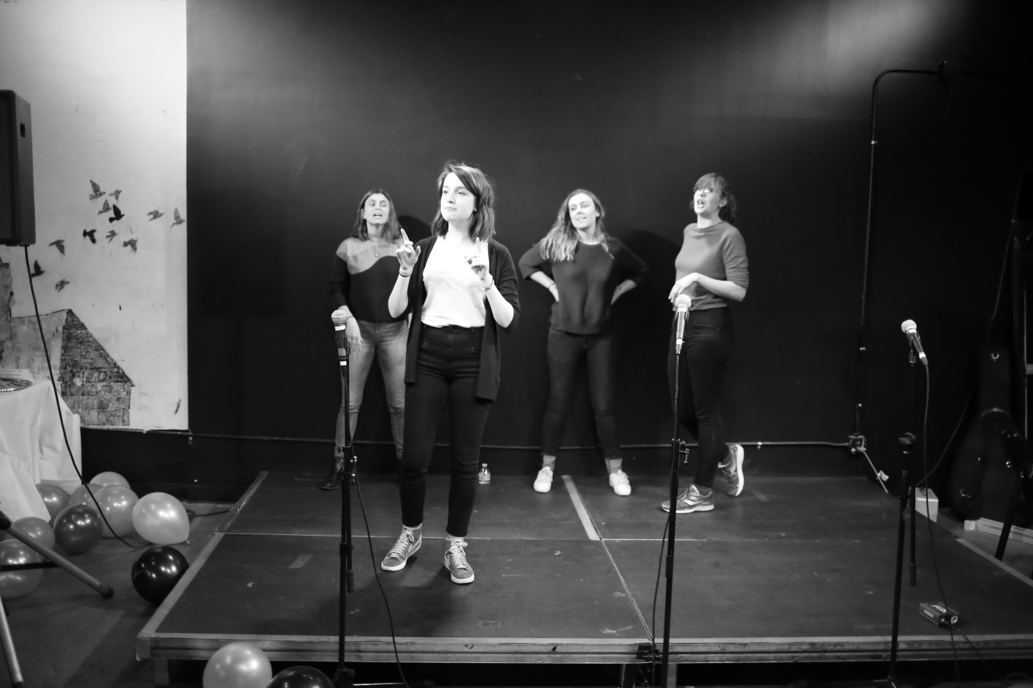 Guest performers Lady Jay Improv.