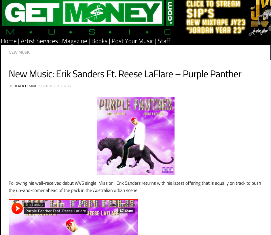 Get Money Music: New Music - September 3rd 2017