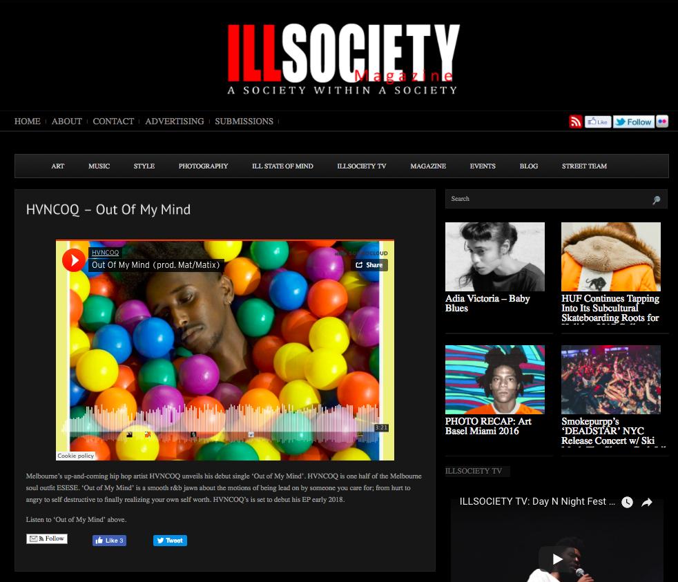 Ill Society Magazine: Music -