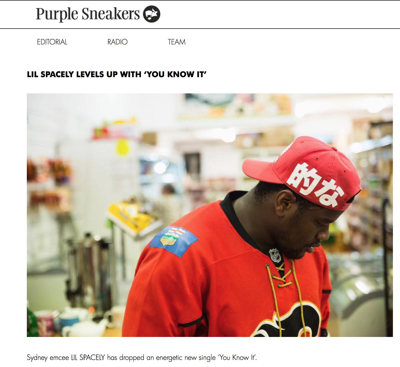 Purple Sneakers -