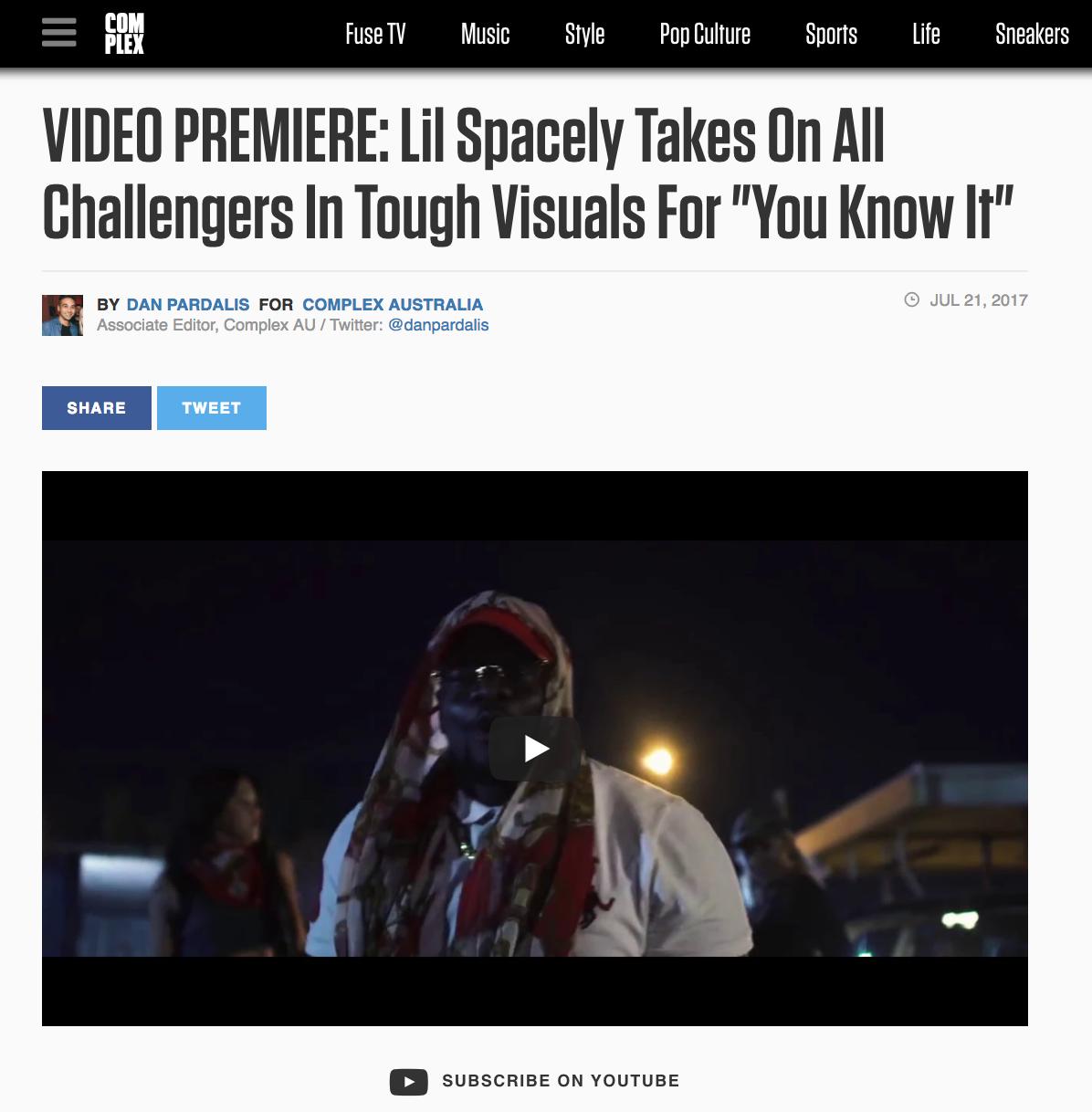 Complex: Video Premiere - July 21st 2017
