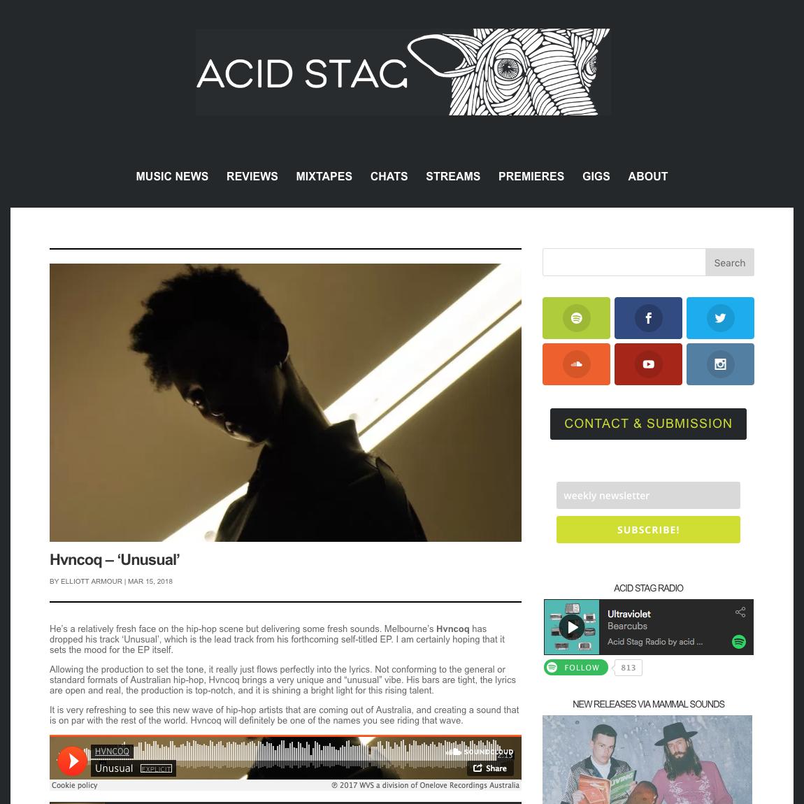Acid Stag - March 15th 2018