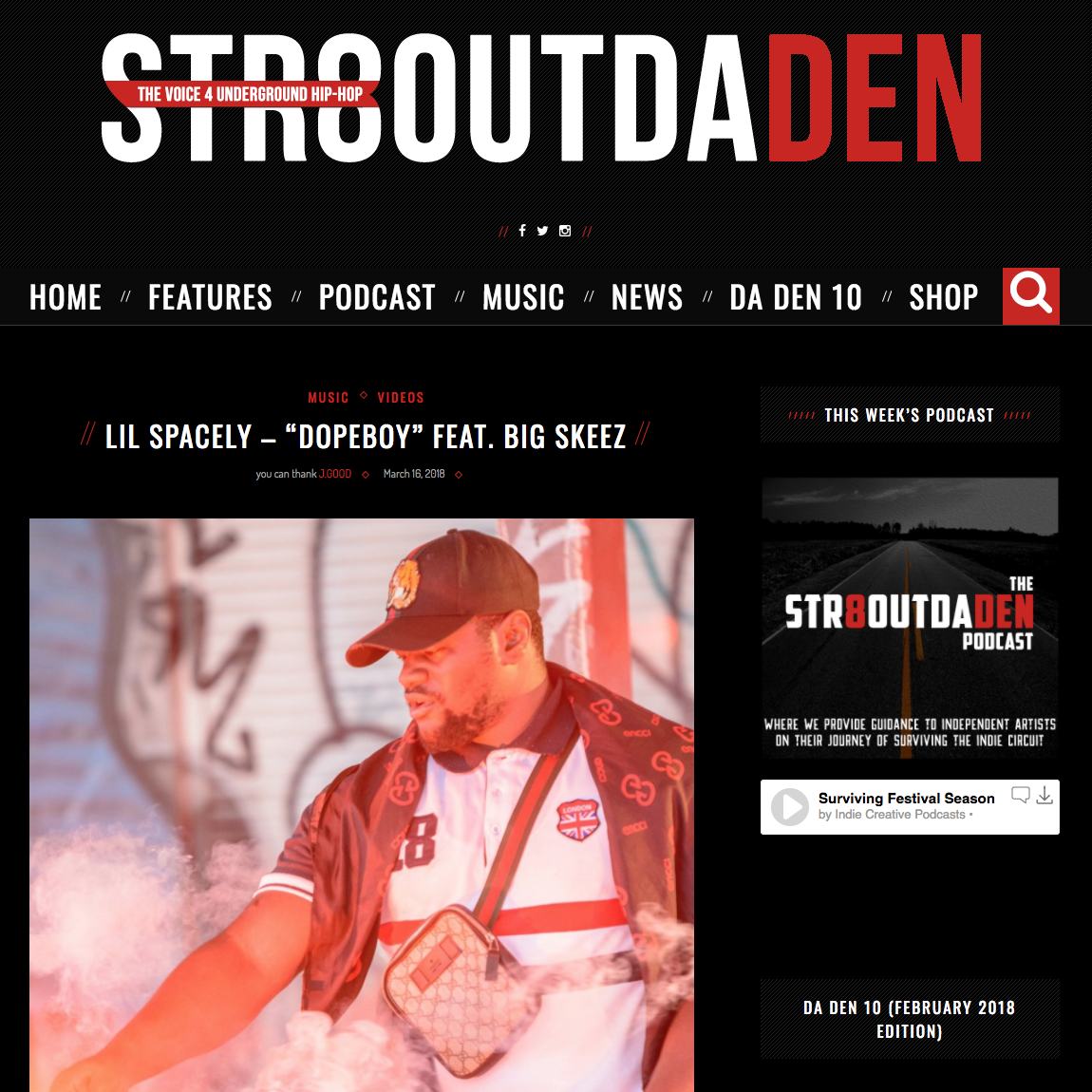 Str8OutDaDen - March 16th 2018