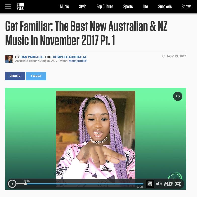 Complex: Get Familiar - November 13th 2017